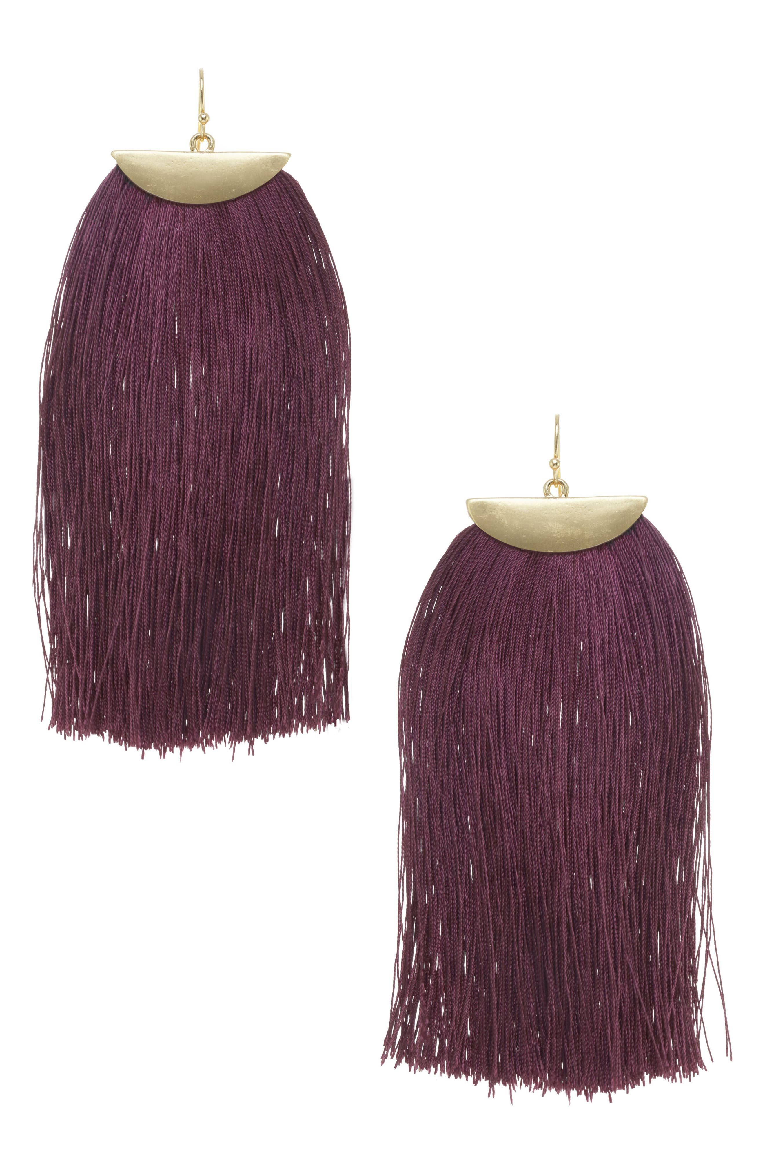 Main Image - Stella + Ruby Fringe Tassel Earrings