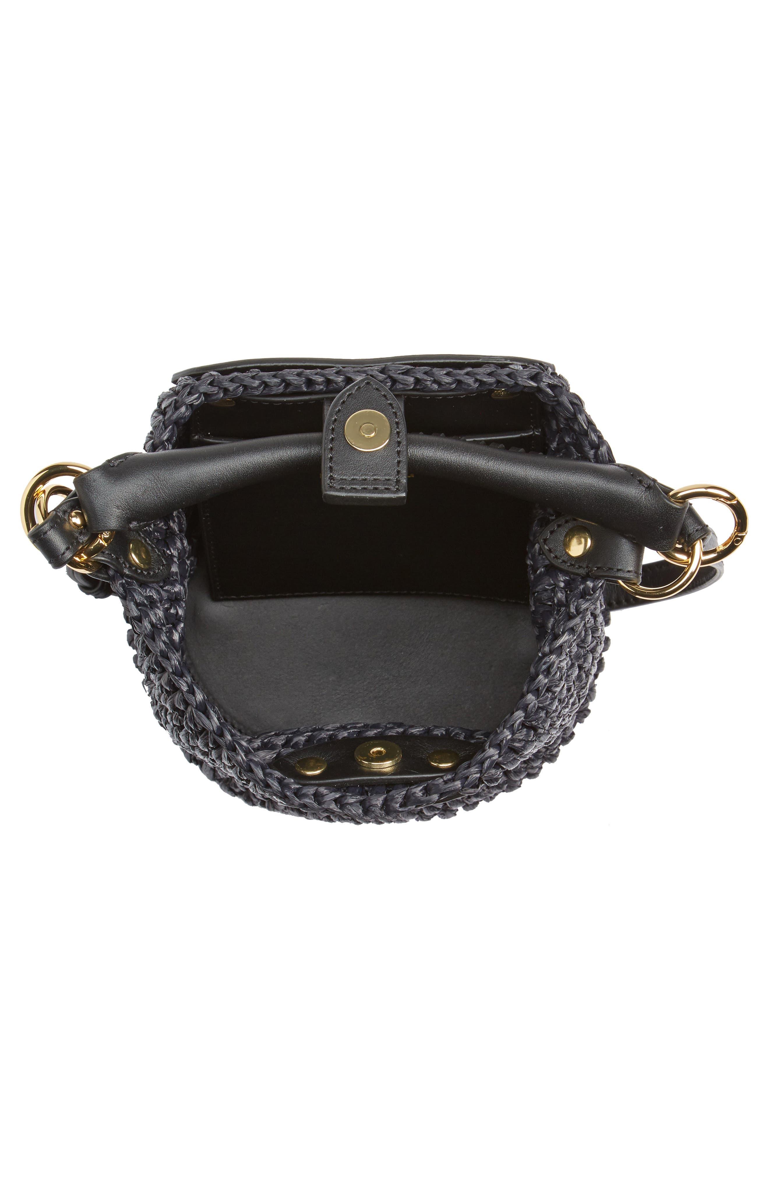 Alternate Image 4  - Diane von Furstenberg Mini Raffia Bucket Bag
