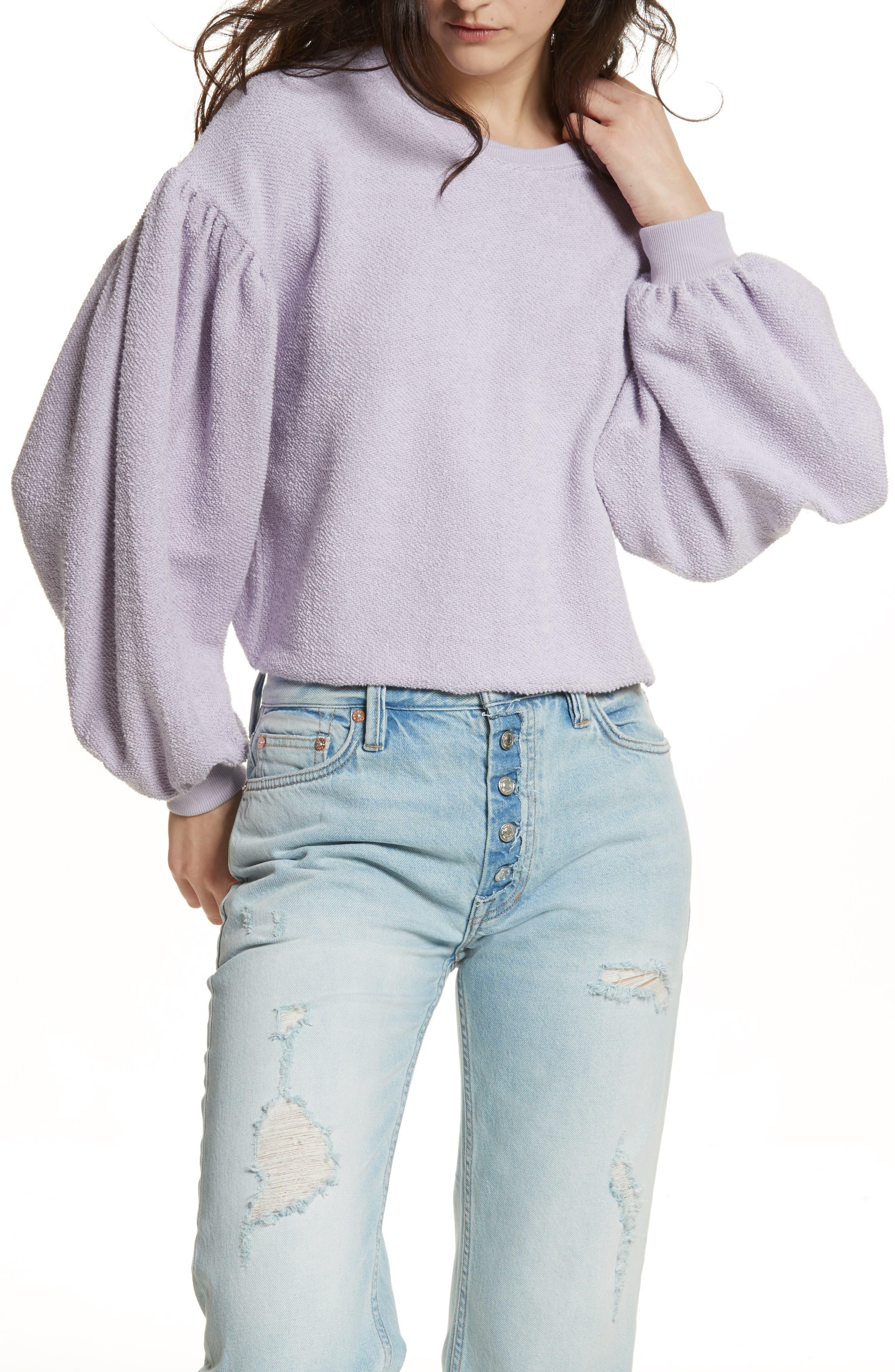 Main Image - Free People Sleeves like These Sweater
