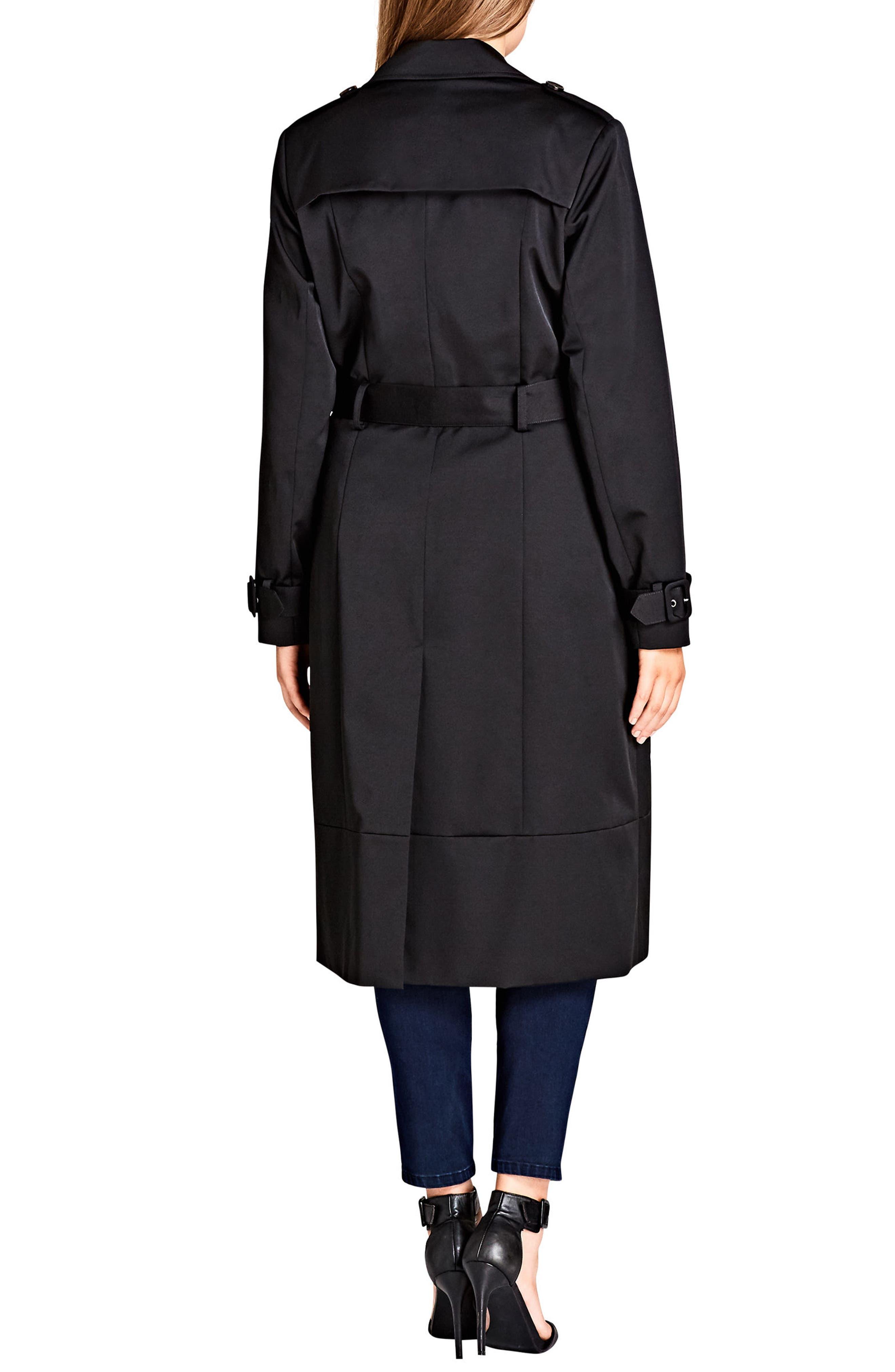 Classic Trench Coat,                             Alternate thumbnail 2, color,                             Black