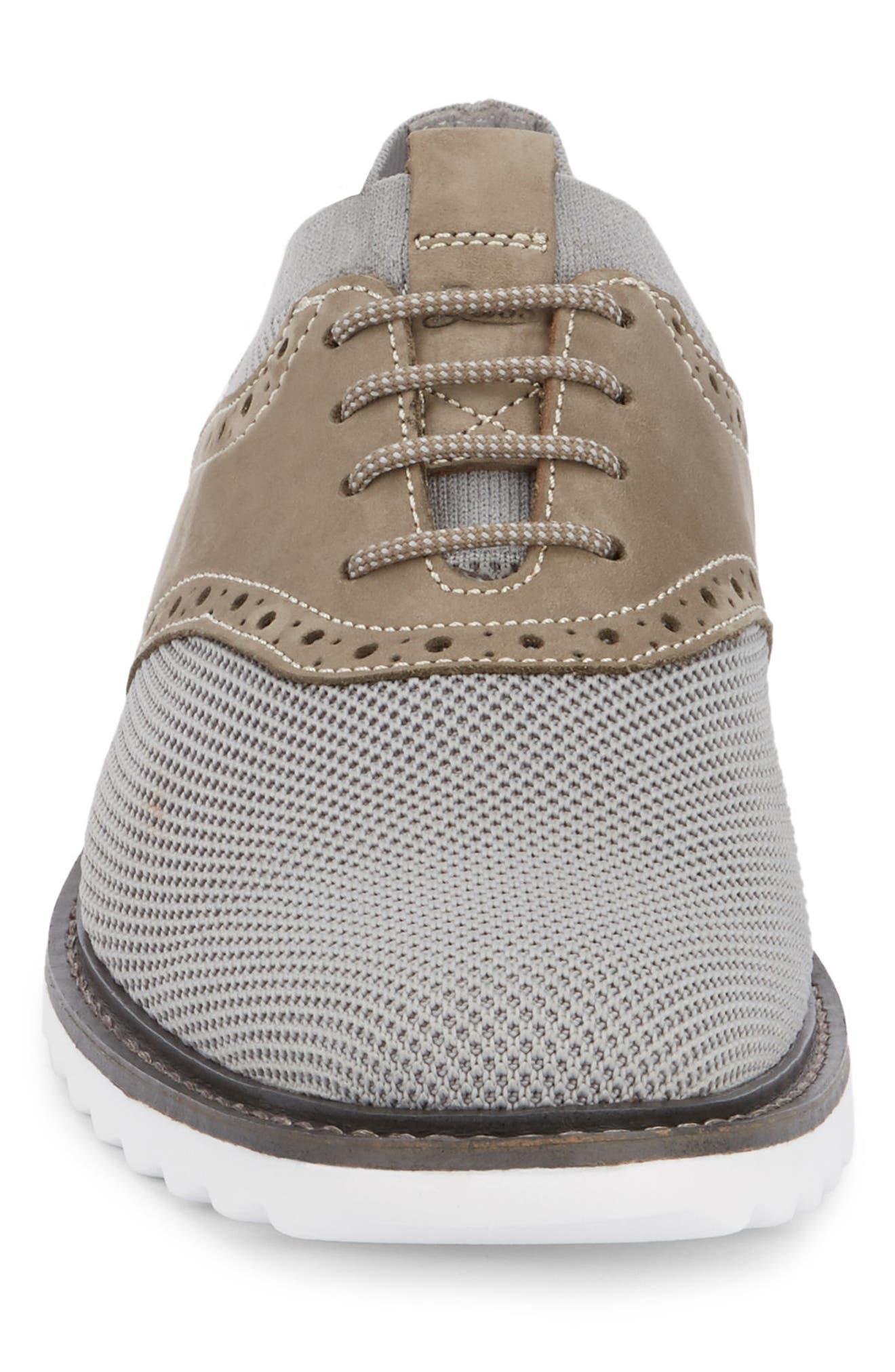 Buck 2.0 Saddle Shoe,                             Alternate thumbnail 4, color,                             Light Grey Knit/ Nubuck