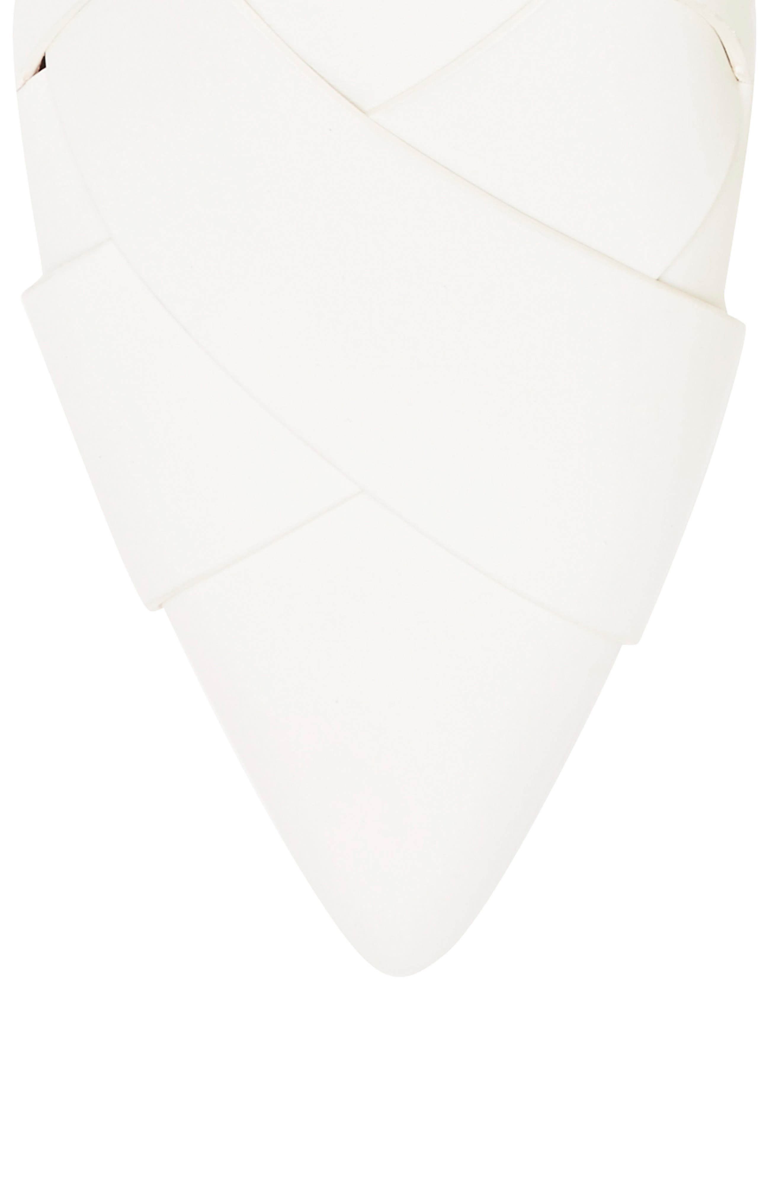 Leive Pointy Toe Mule,                             Alternate thumbnail 4, color,                             White Leather