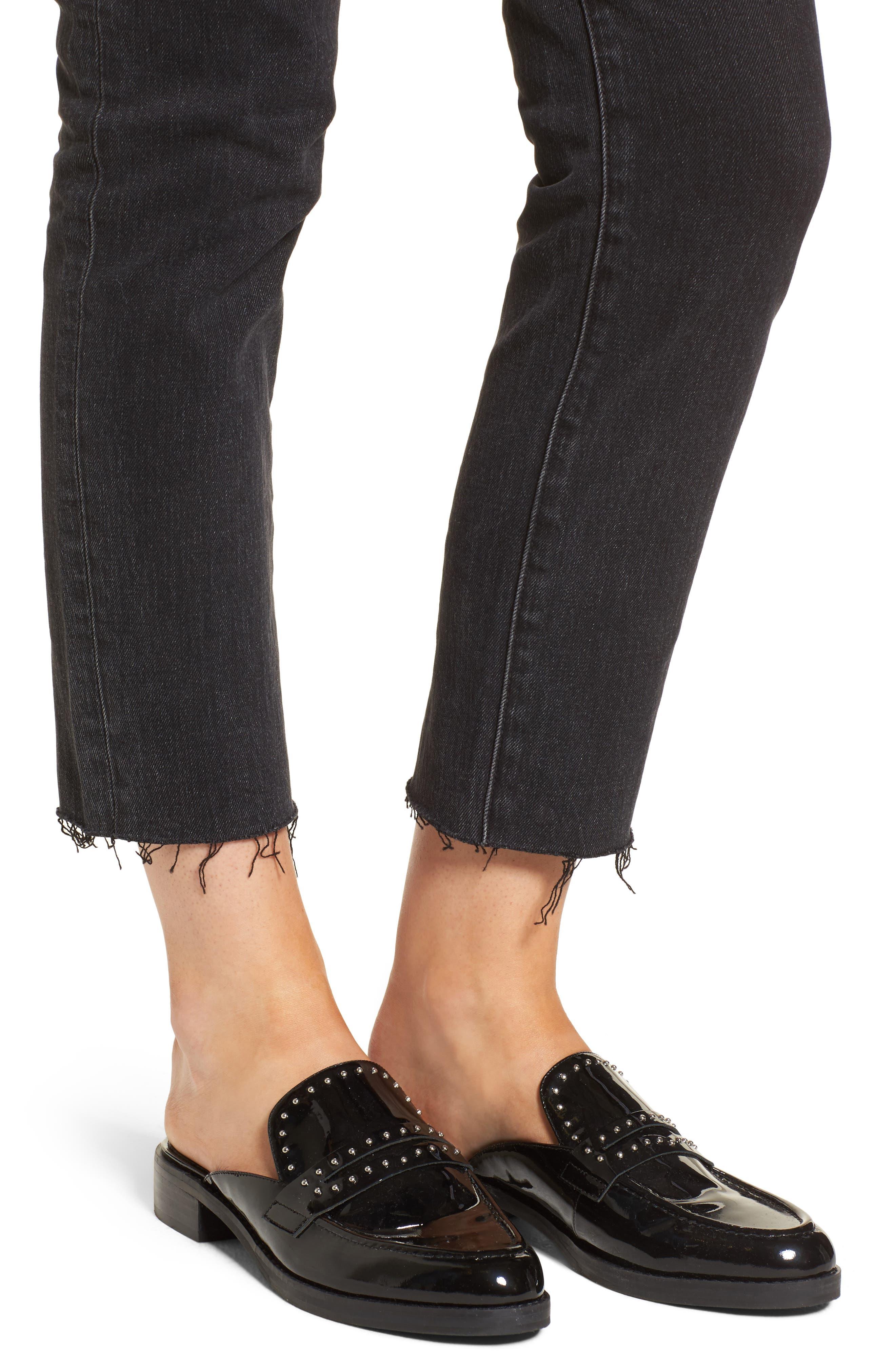 Alternate Image 5  - Treasure & Bond Bond Loose Fit Ankle Skinny Jeans (Black Dark Vintage)