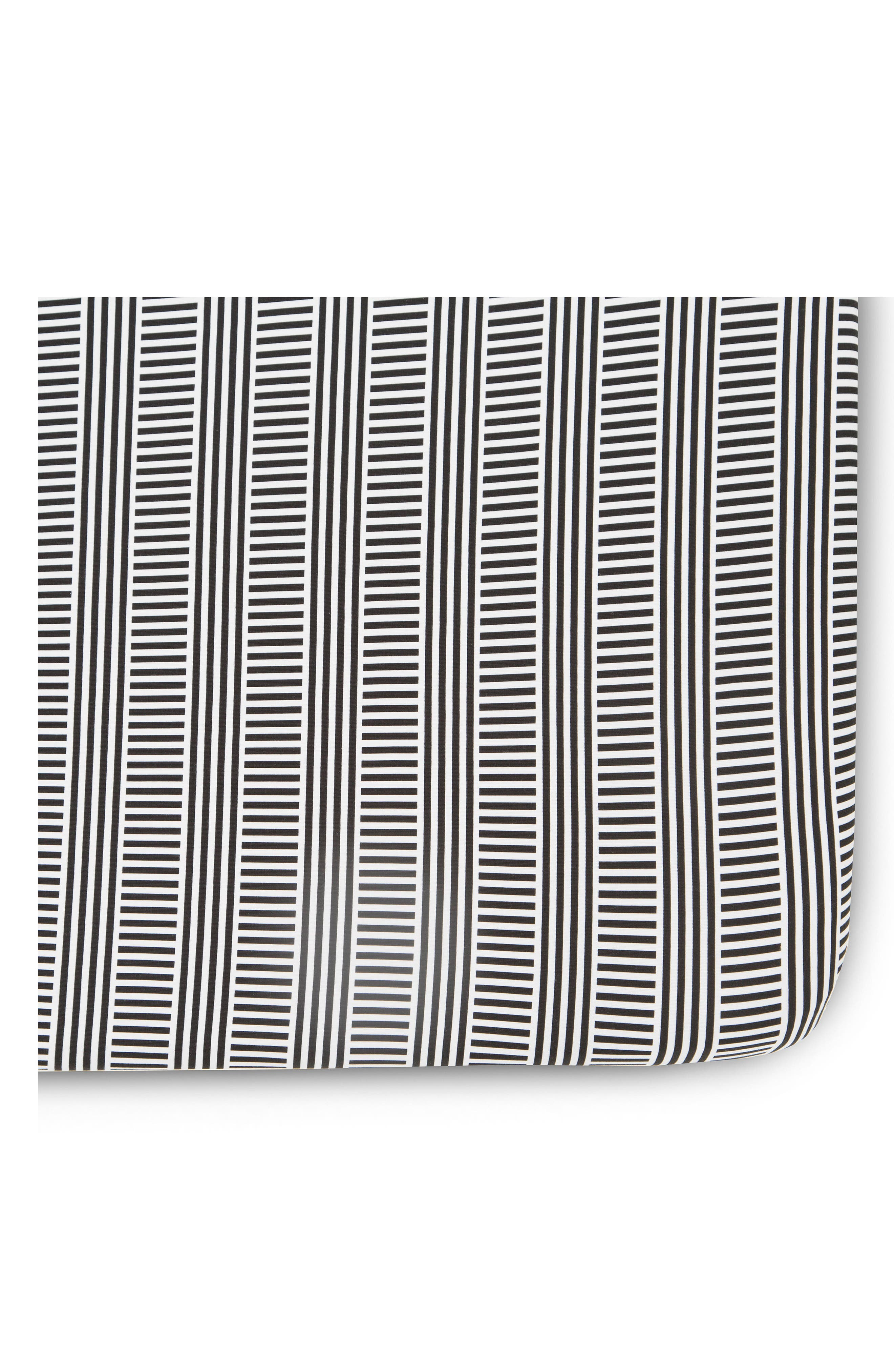 Fitted Crib Sheet,                         Main,                         color, Black/ White