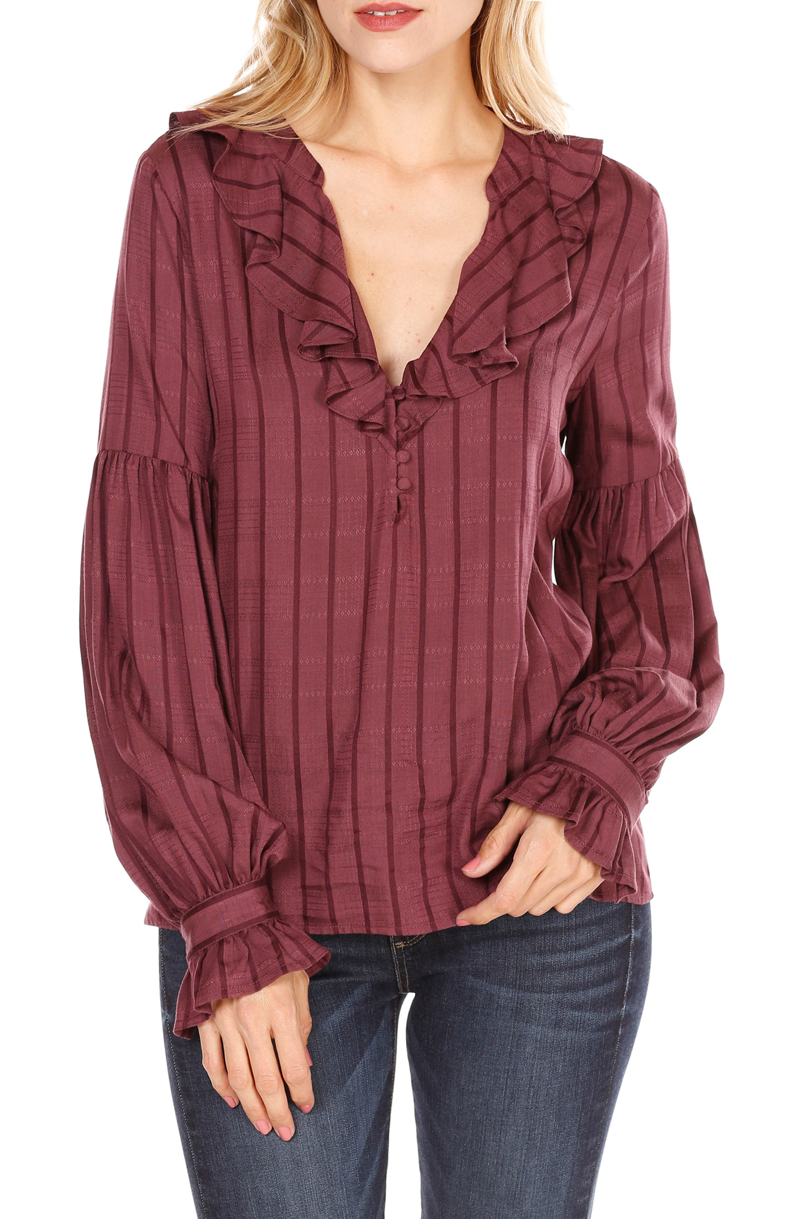 Alternate Image 1 Selected - PAIGE Russo Ruffle Blouse