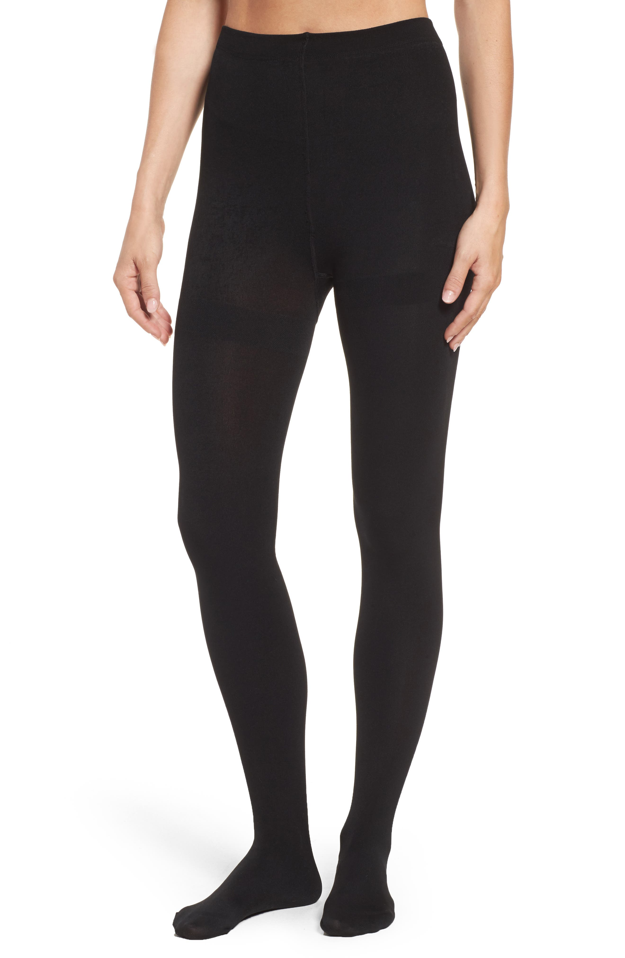 Alternate Image 1 Selected - Nordstrom Fleece Lined Tights
