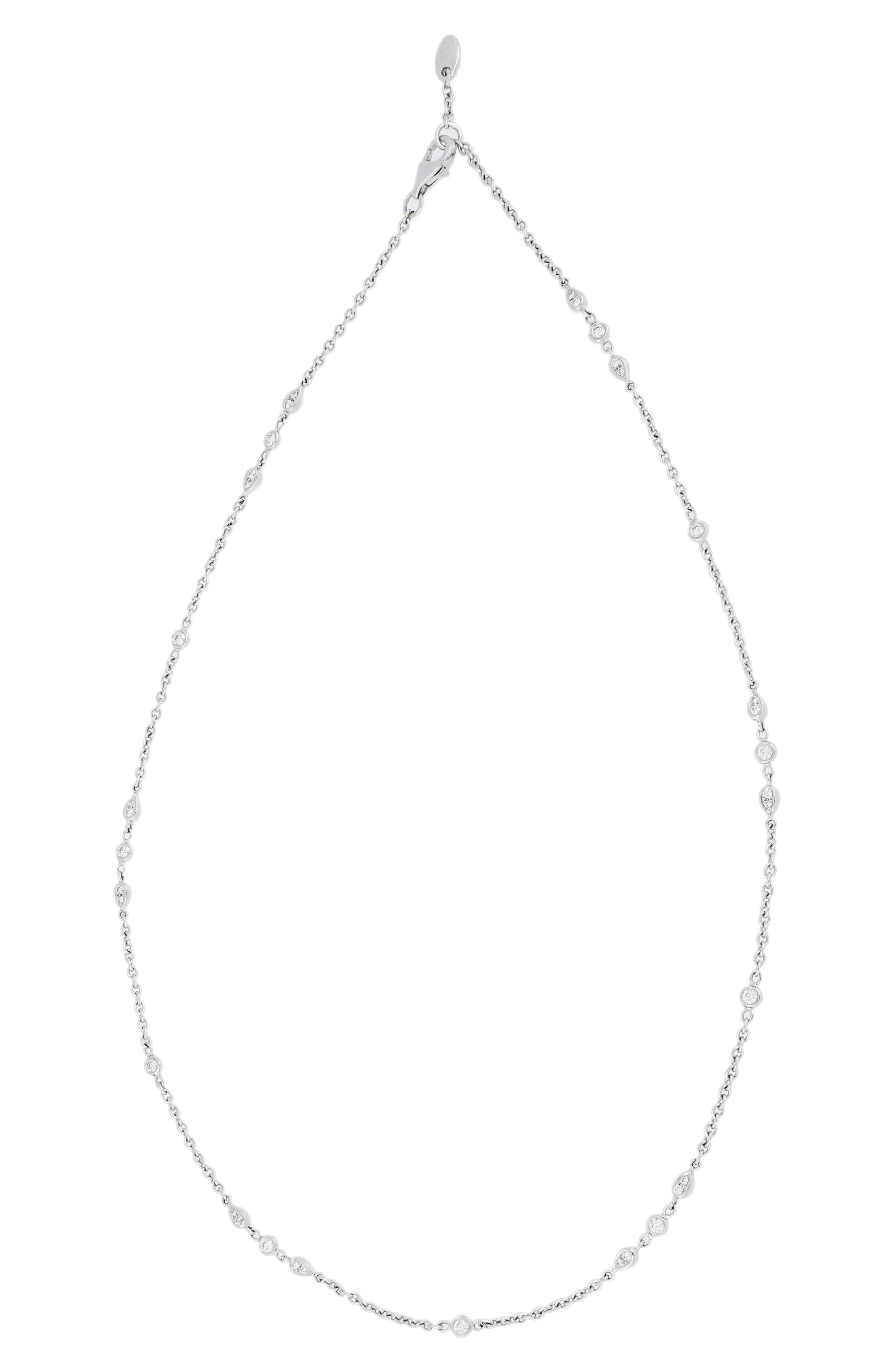 Main Image - Bony Levy Diamond Station Necklace (Nordstrom Exclusive)