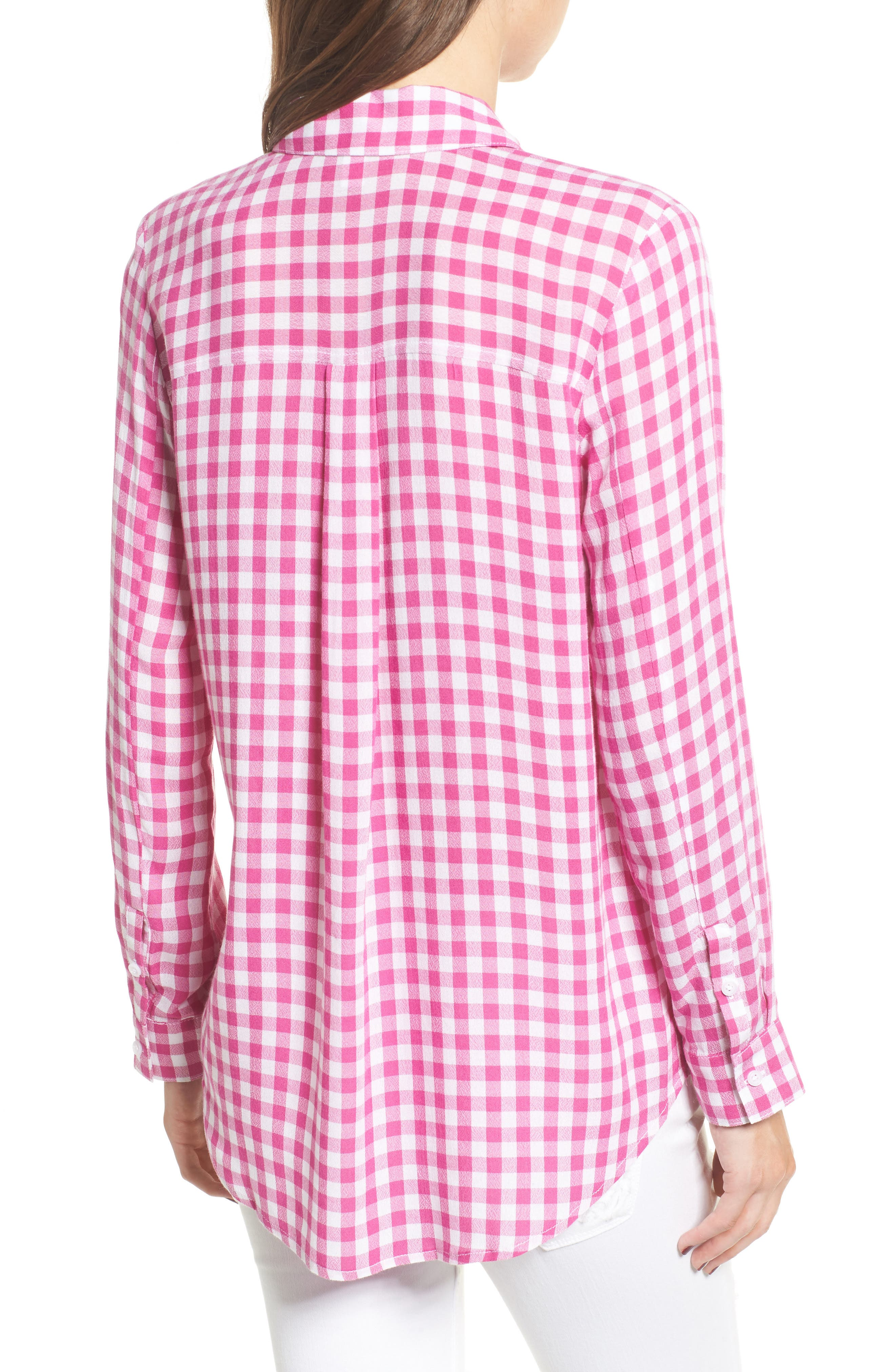 The Perfect Shirt,                             Alternate thumbnail 2, color,                             Pink Cyclamen Annette Check