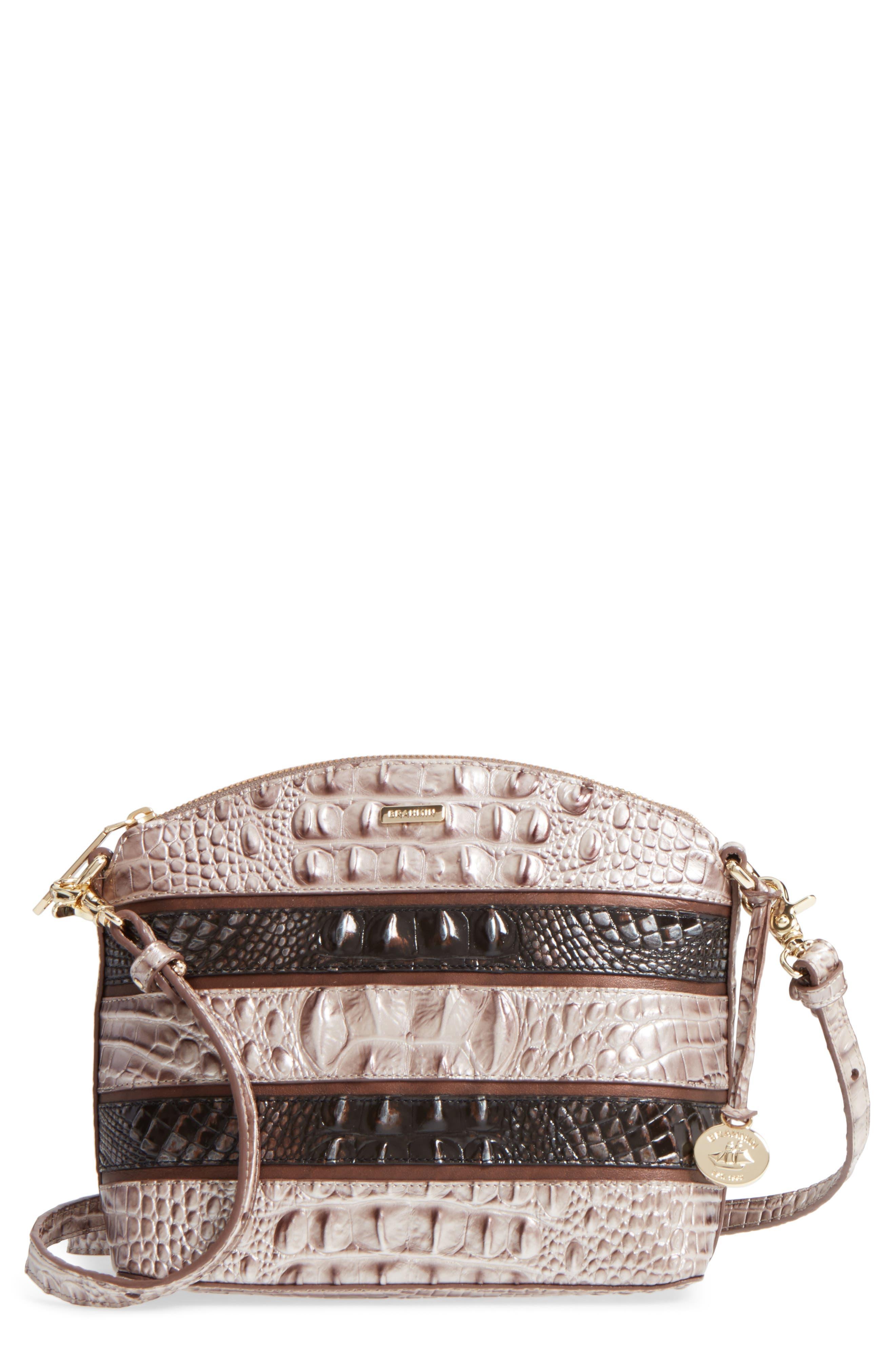 Mini Duxbury Leather Crossbody Bag,                             Main thumbnail 1, color,                             Chardonnay