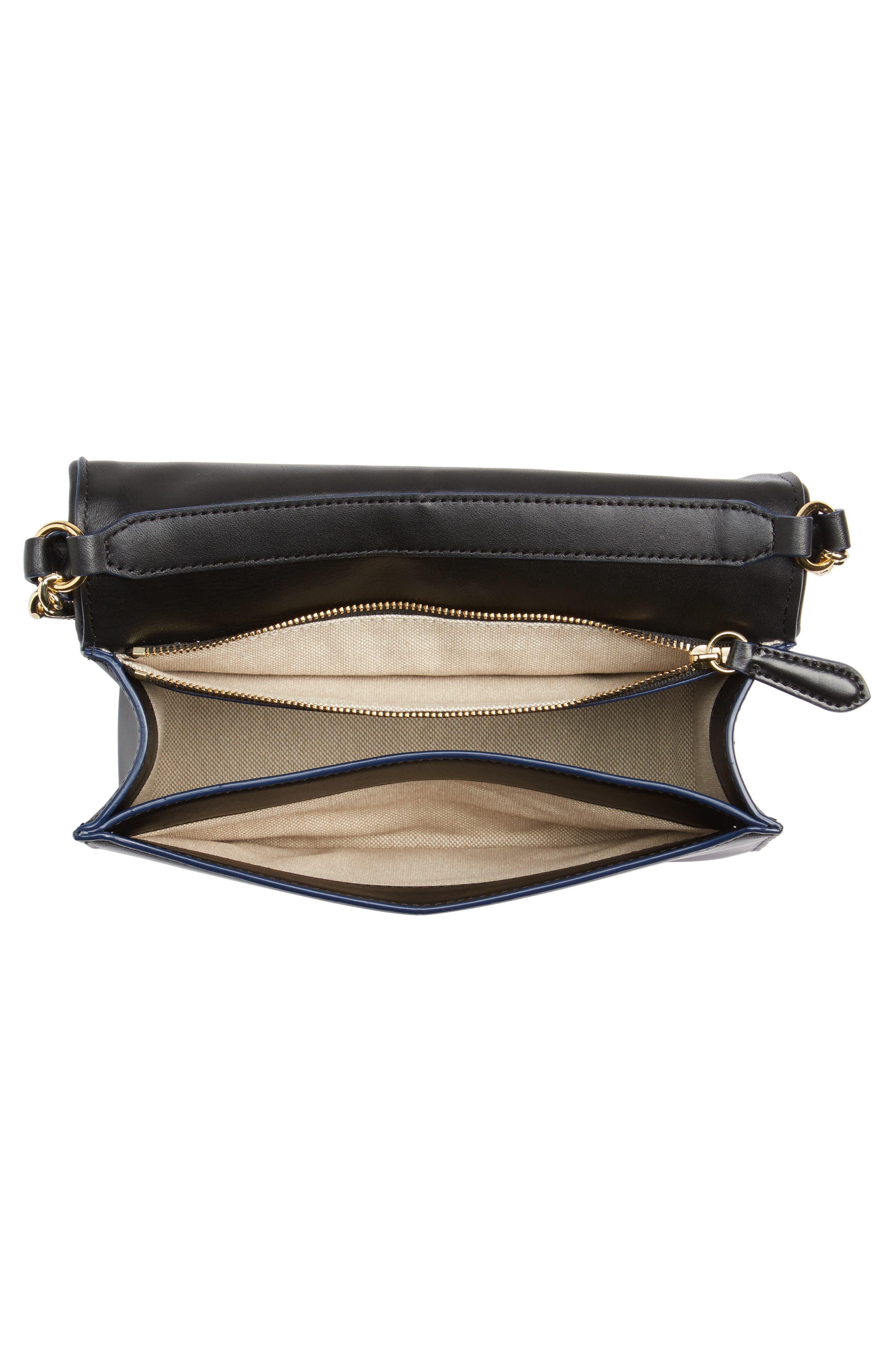 Bonne Soirée Quilted Top Handle Bag,                             Alternate thumbnail 4, color,                             Navy