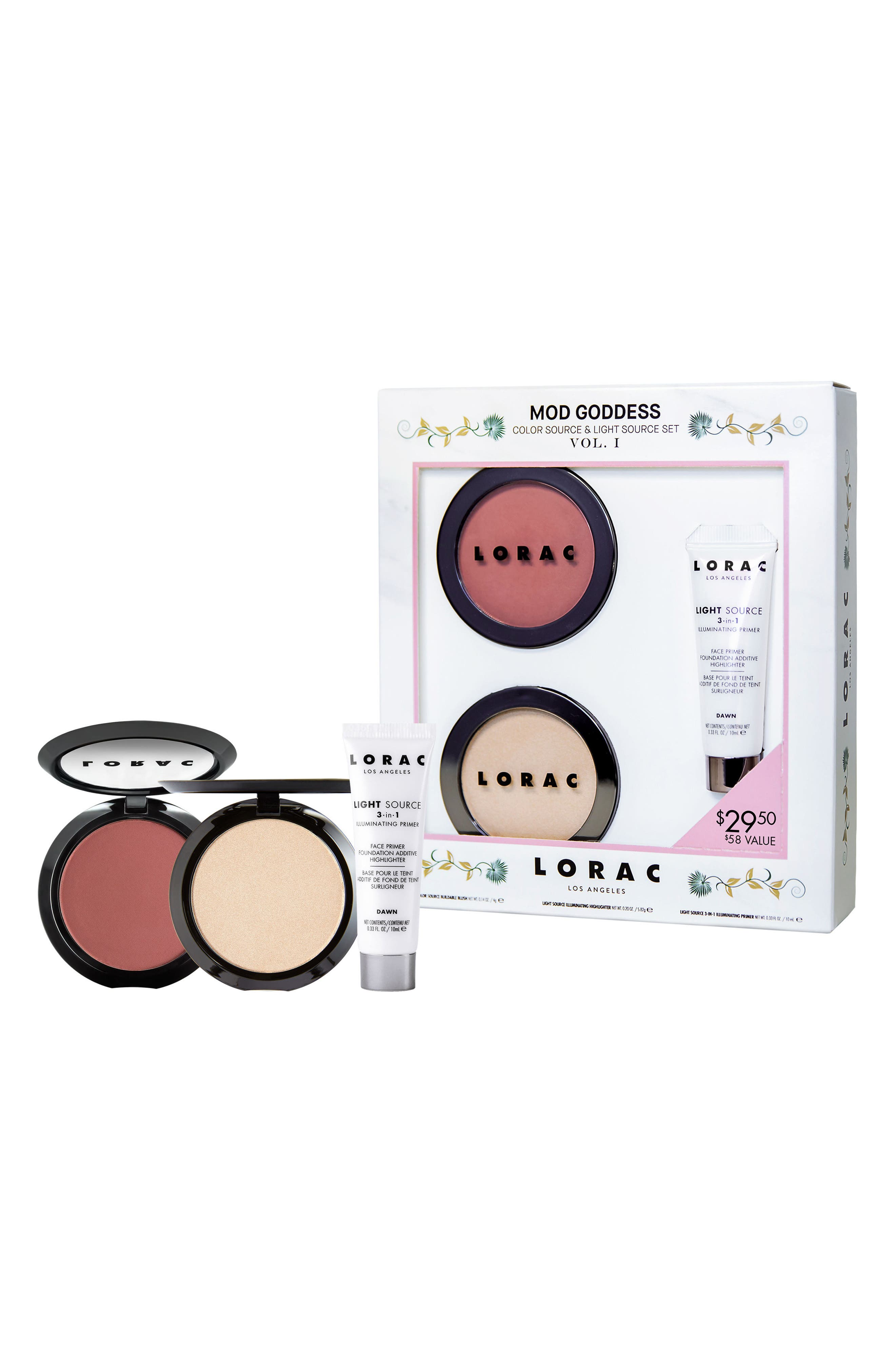 LORAC Mod Goddess Color Source & Light Set ($58 Value)