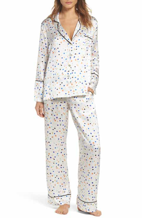 Hesper Fox Lisbon Pebble Evie Silk Pajamas
