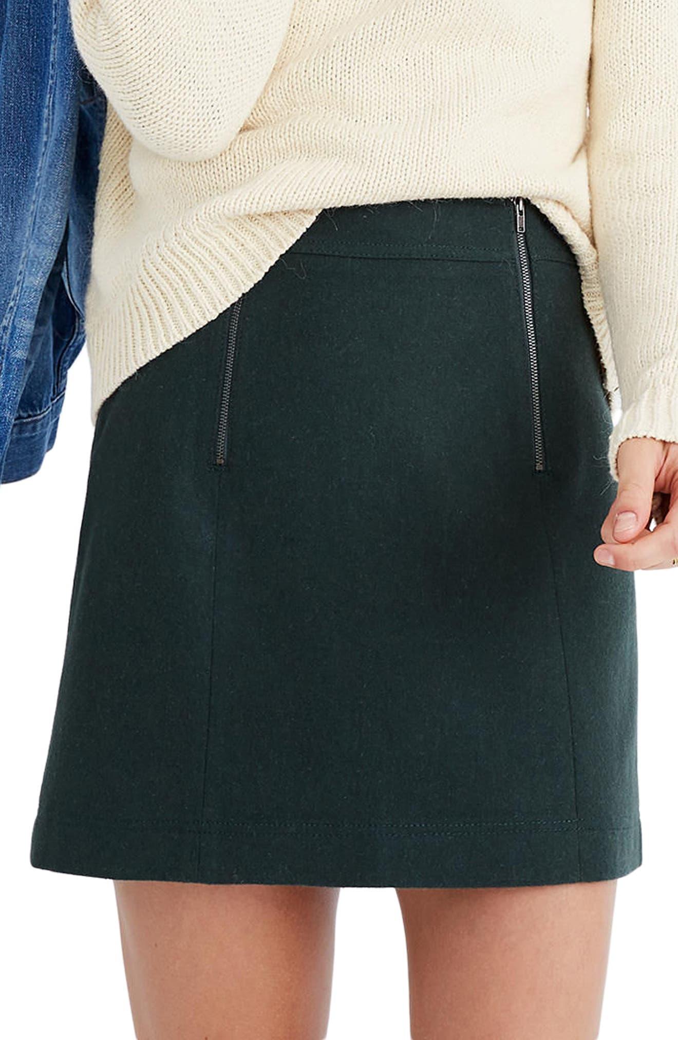 Madewell Uptown Zip Miniskirt