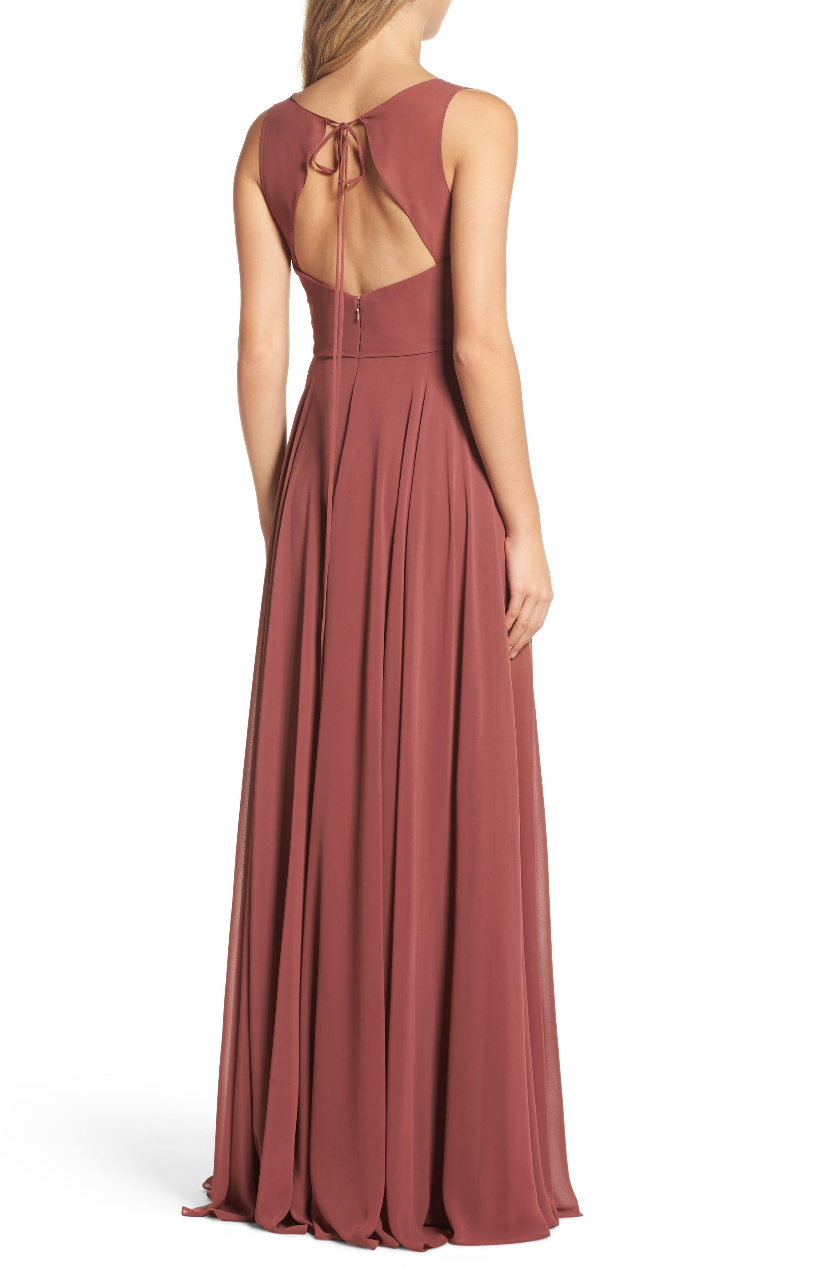 Alternate Image 2  - Jenny Yoo Elizabeth Chiffon Gown