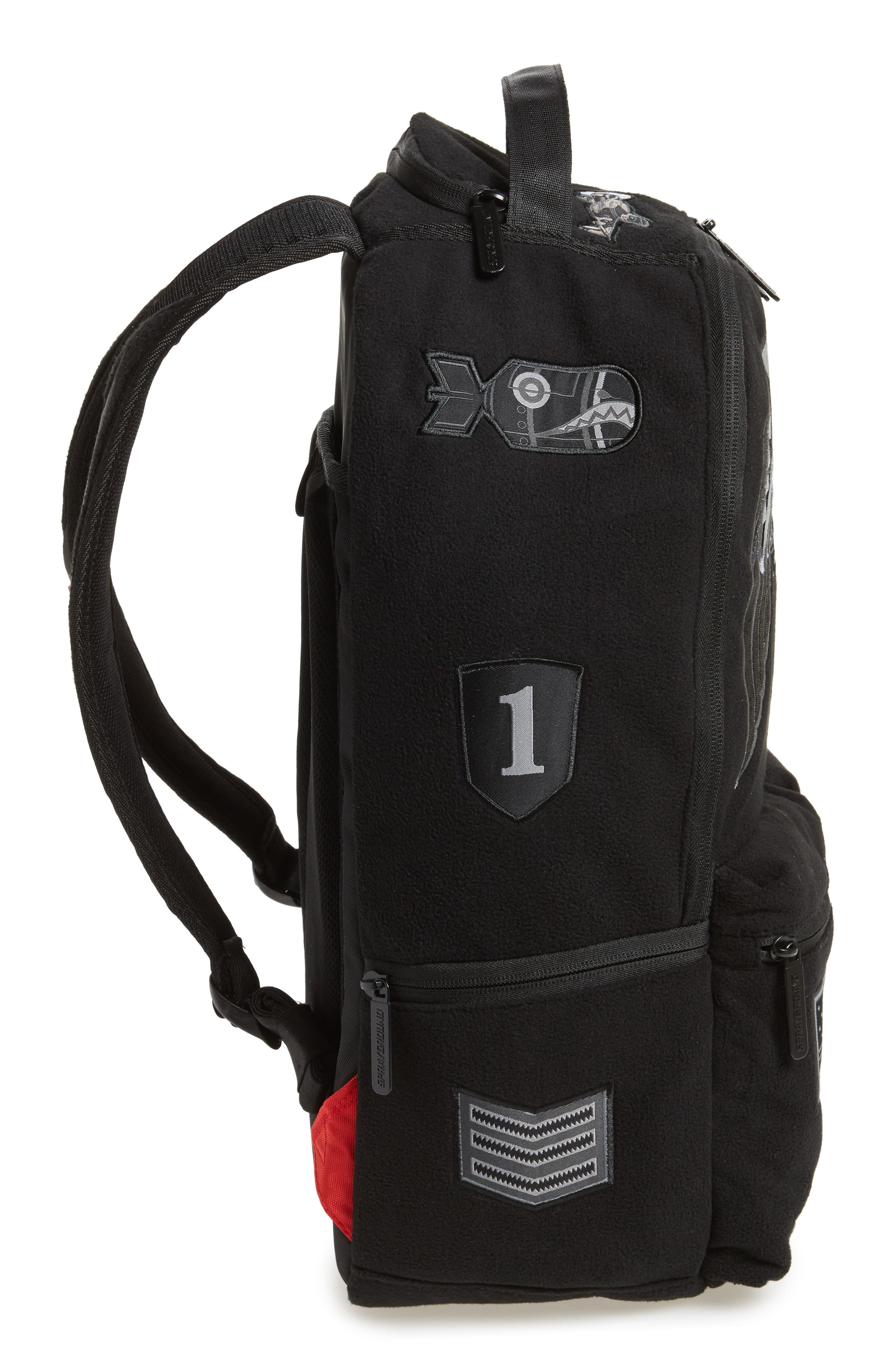 Ghost Army Patches Backpack,                             Alternate thumbnail 5, color,                             Black