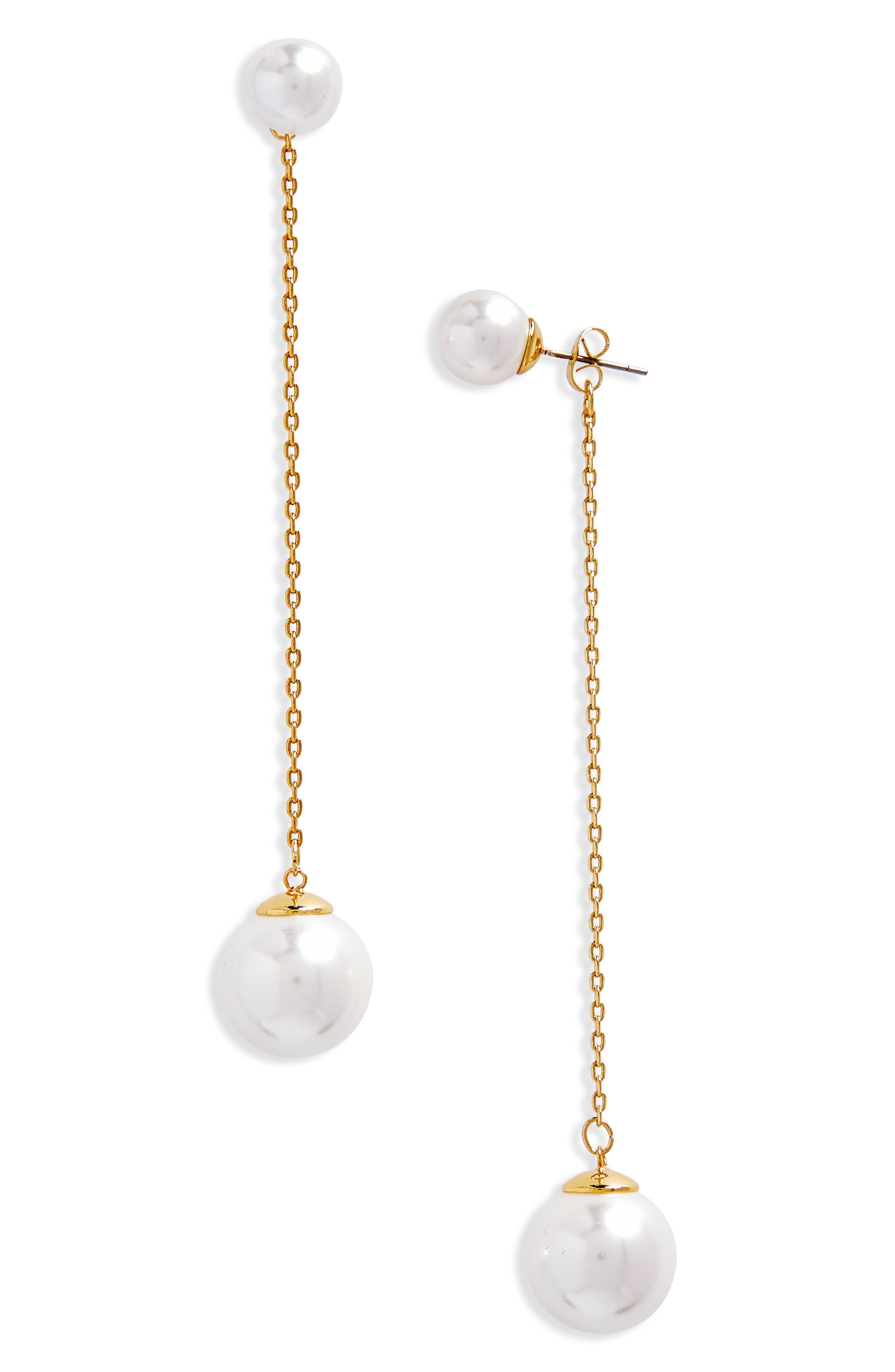 Rebecca Minkoff Double Sphere Front/Back Earrings