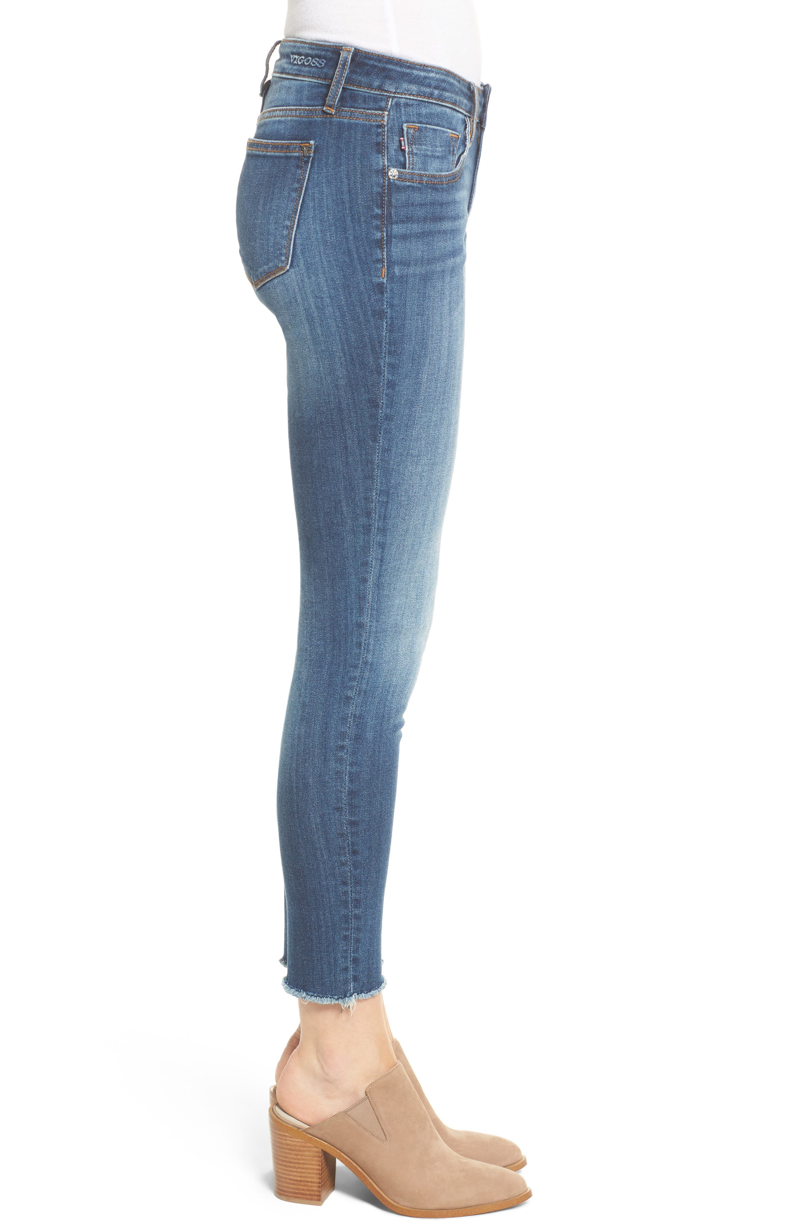 Jagger Mid-Rise Skinny Jeans,                             Alternate thumbnail 3, color,                             Med Wash