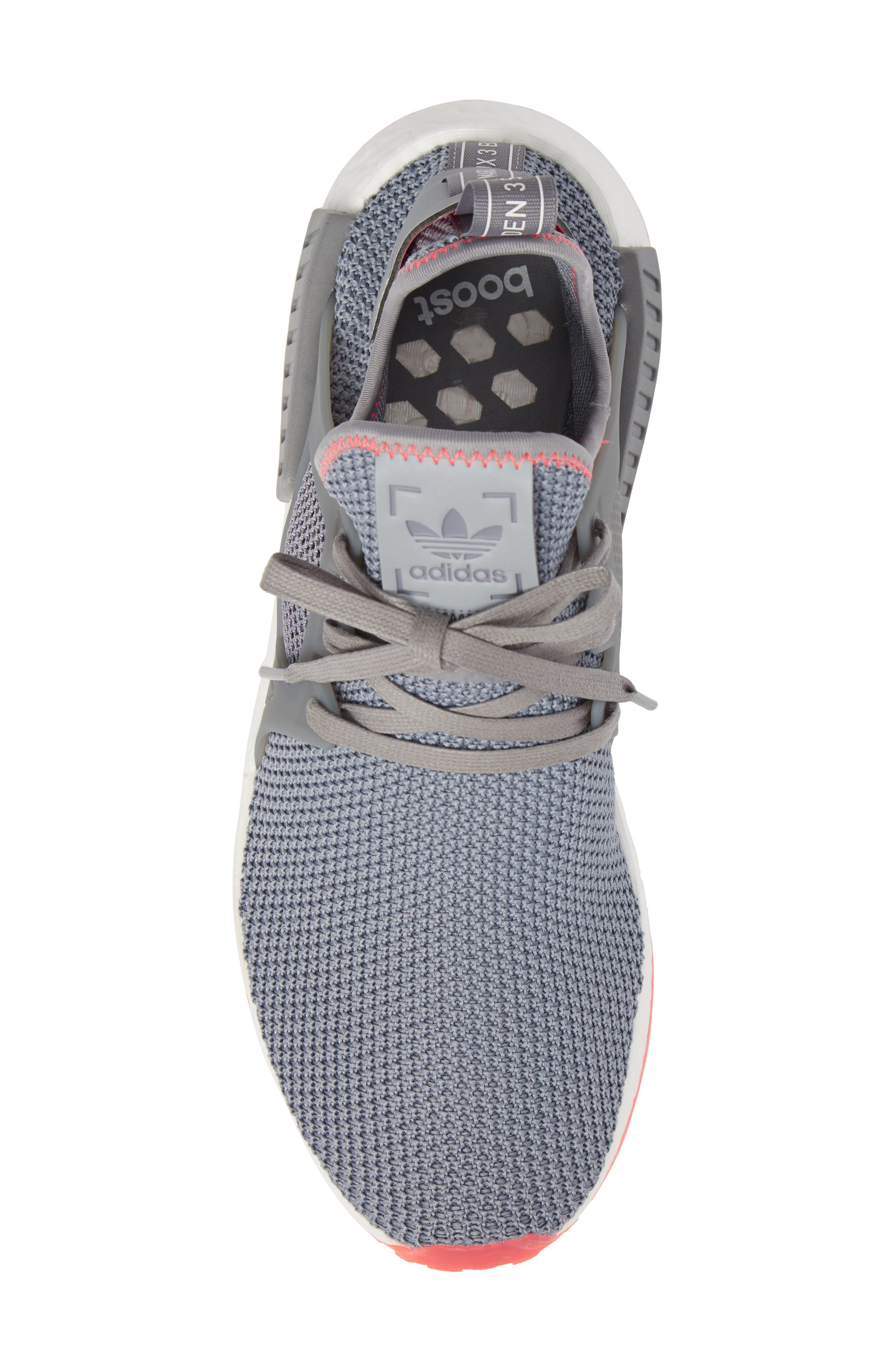 NMD_XR1 Sneaker,                             Alternate thumbnail 5, color,                             Grey Heather/ Red