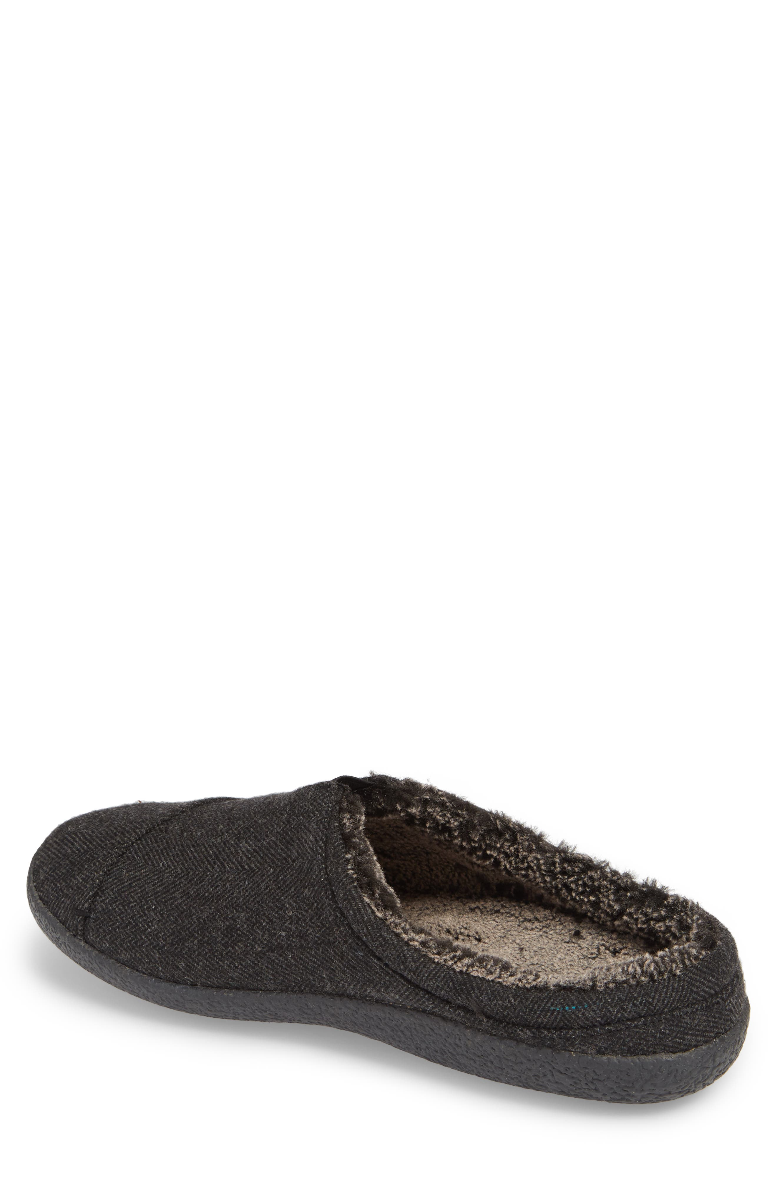 Berkeley Slipper with Faux Fur Lining,                             Alternate thumbnail 2, color,                             Black
