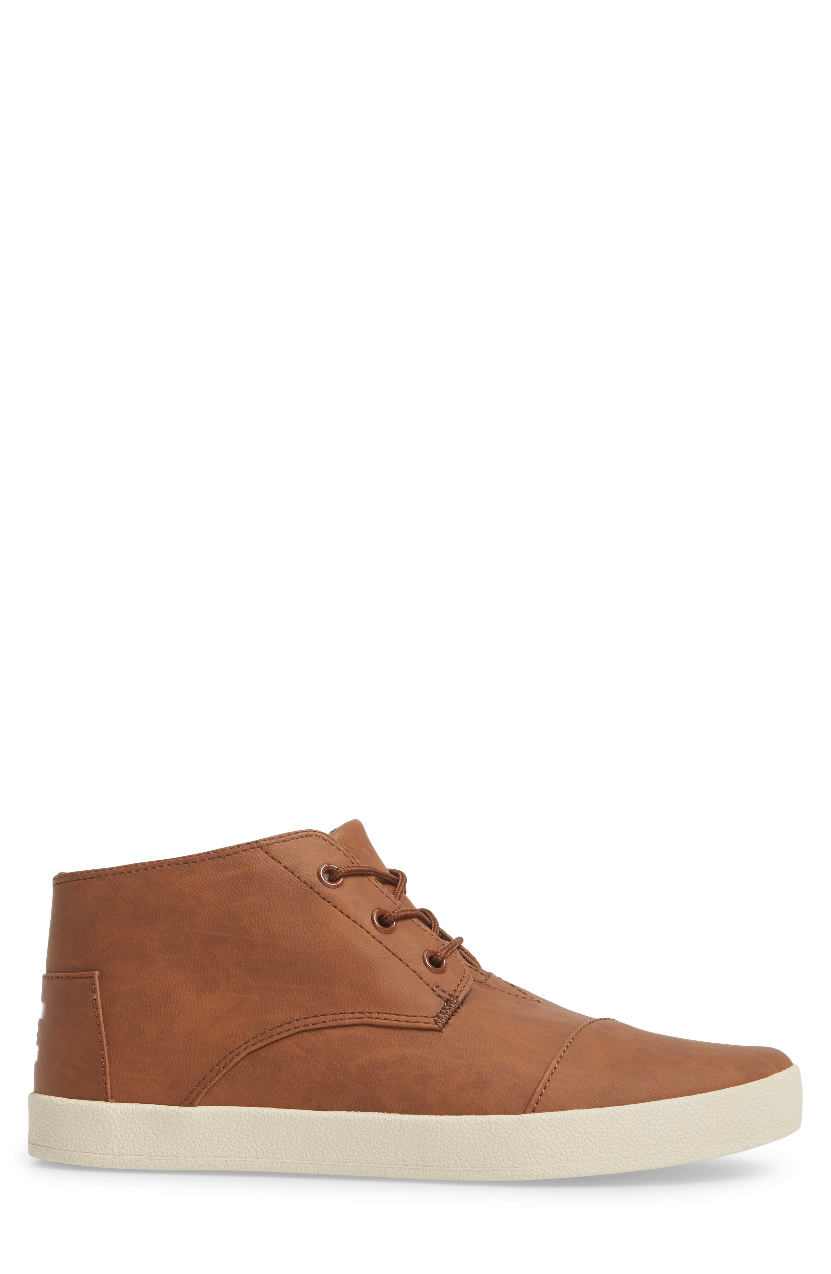 Paseo Mid Sneaker,                             Alternate thumbnail 3, color,                             Dark Earth Brown