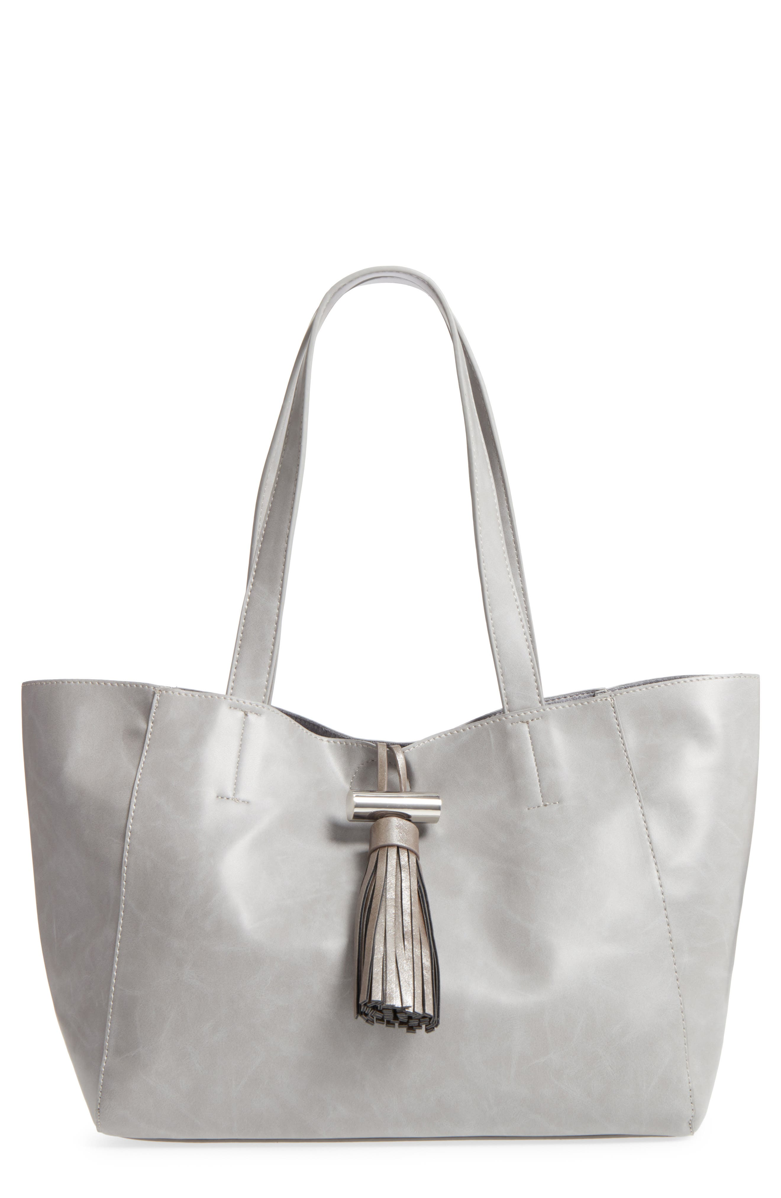 Emperia August Faux Leather Tassel Tote