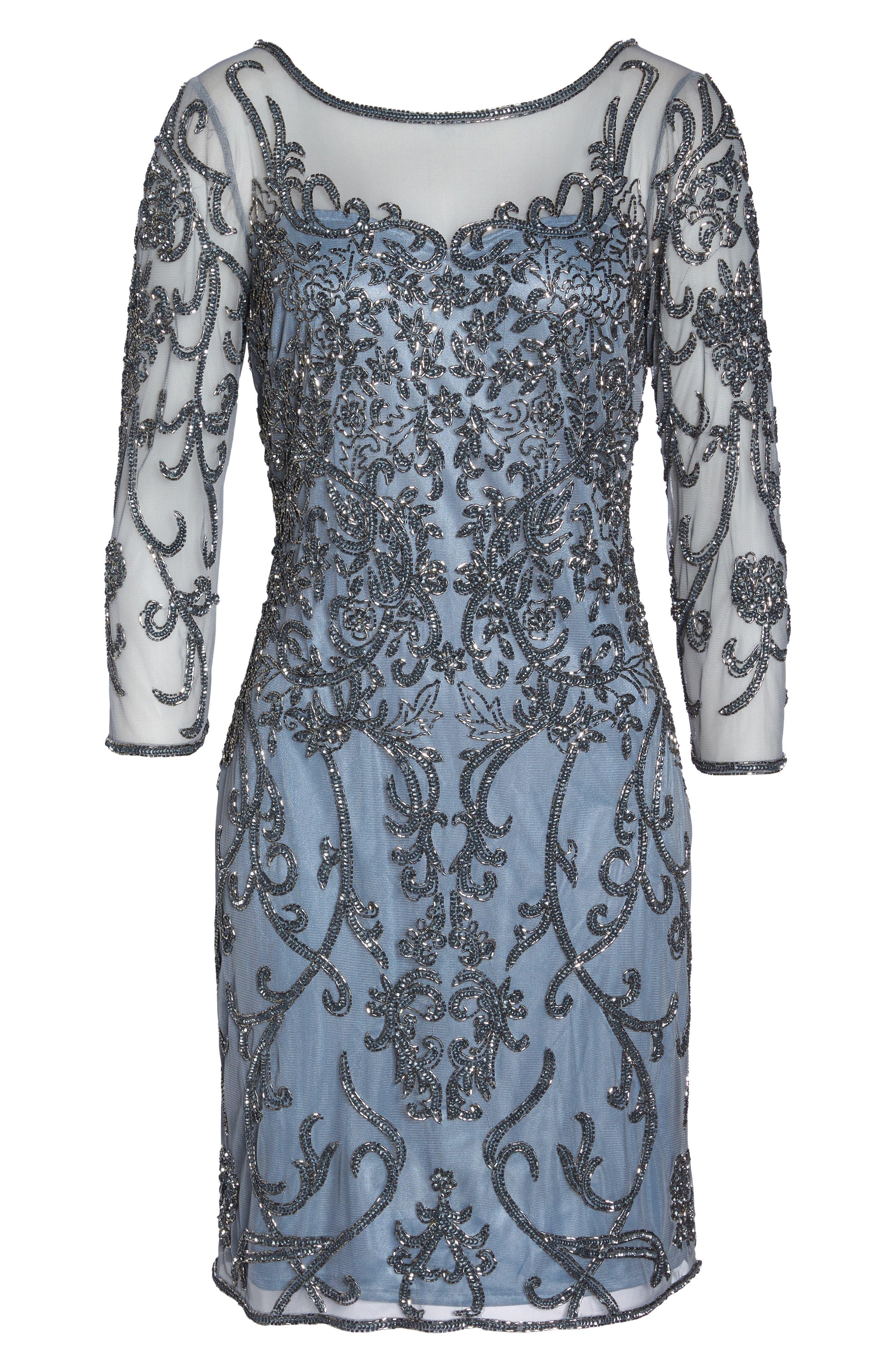 Alternate Image 6  - Pisarro Nights Embellished Mesh Sheath Dress (Regular & Petite)