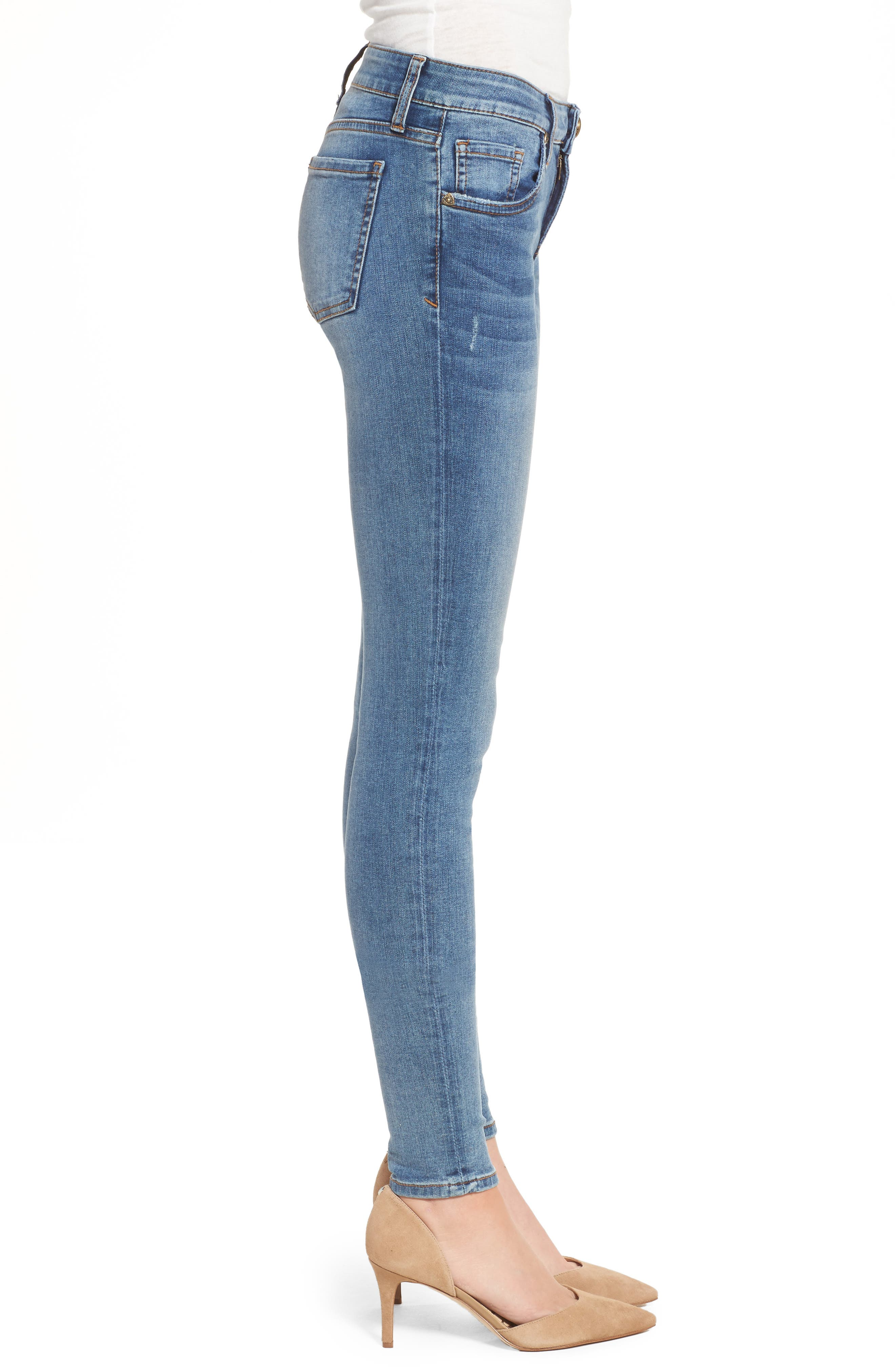 Donna Skinny Jeans,                             Alternate thumbnail 3, color,                             Venturesome