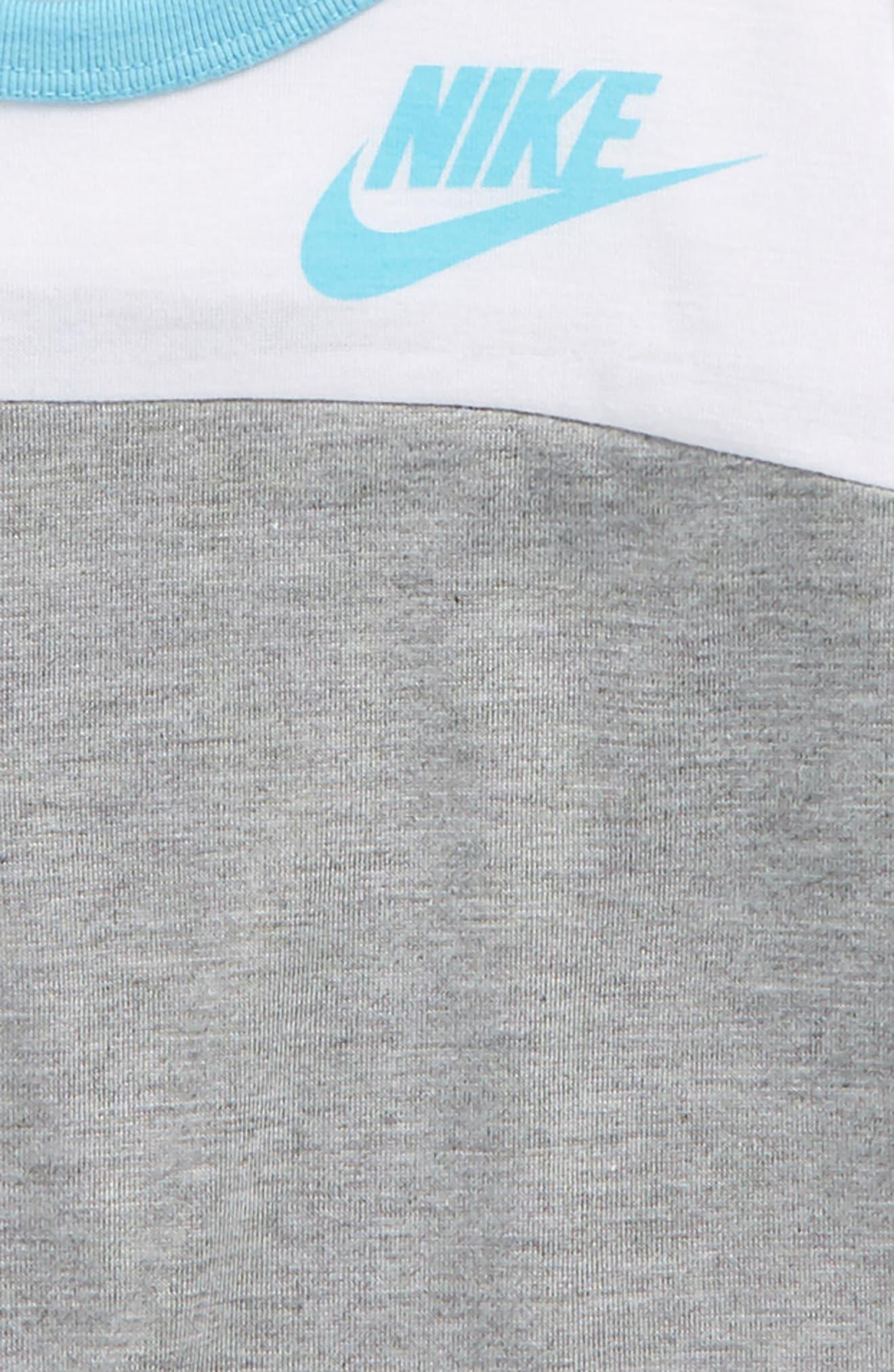 Alternate Image 2  - Nike Color Block Long Sleeve Tee (Toddler Girls & Little Girls)