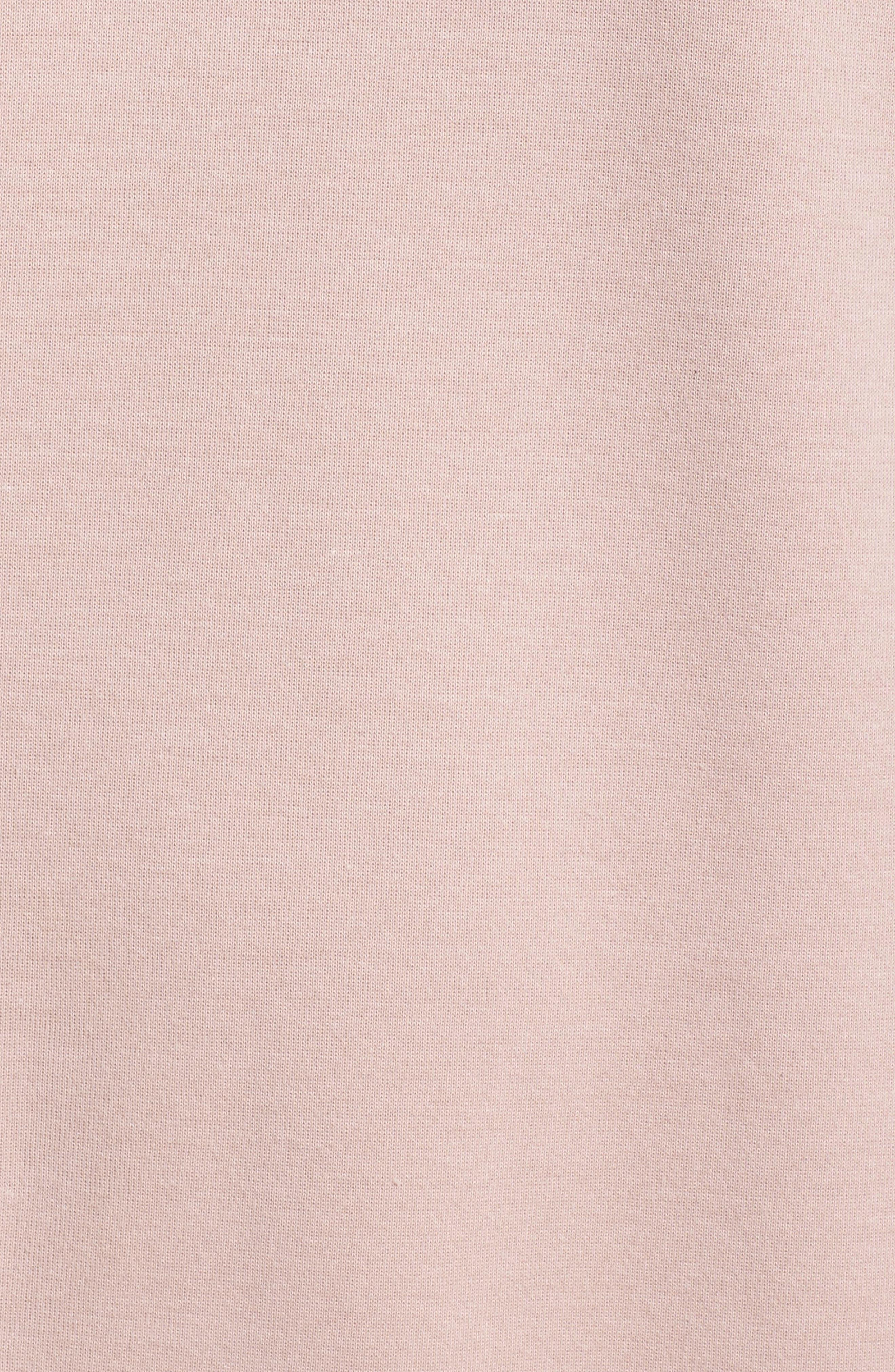 Oversized Sweatshirt,                             Alternate thumbnail 6, color,                             Shell Pink