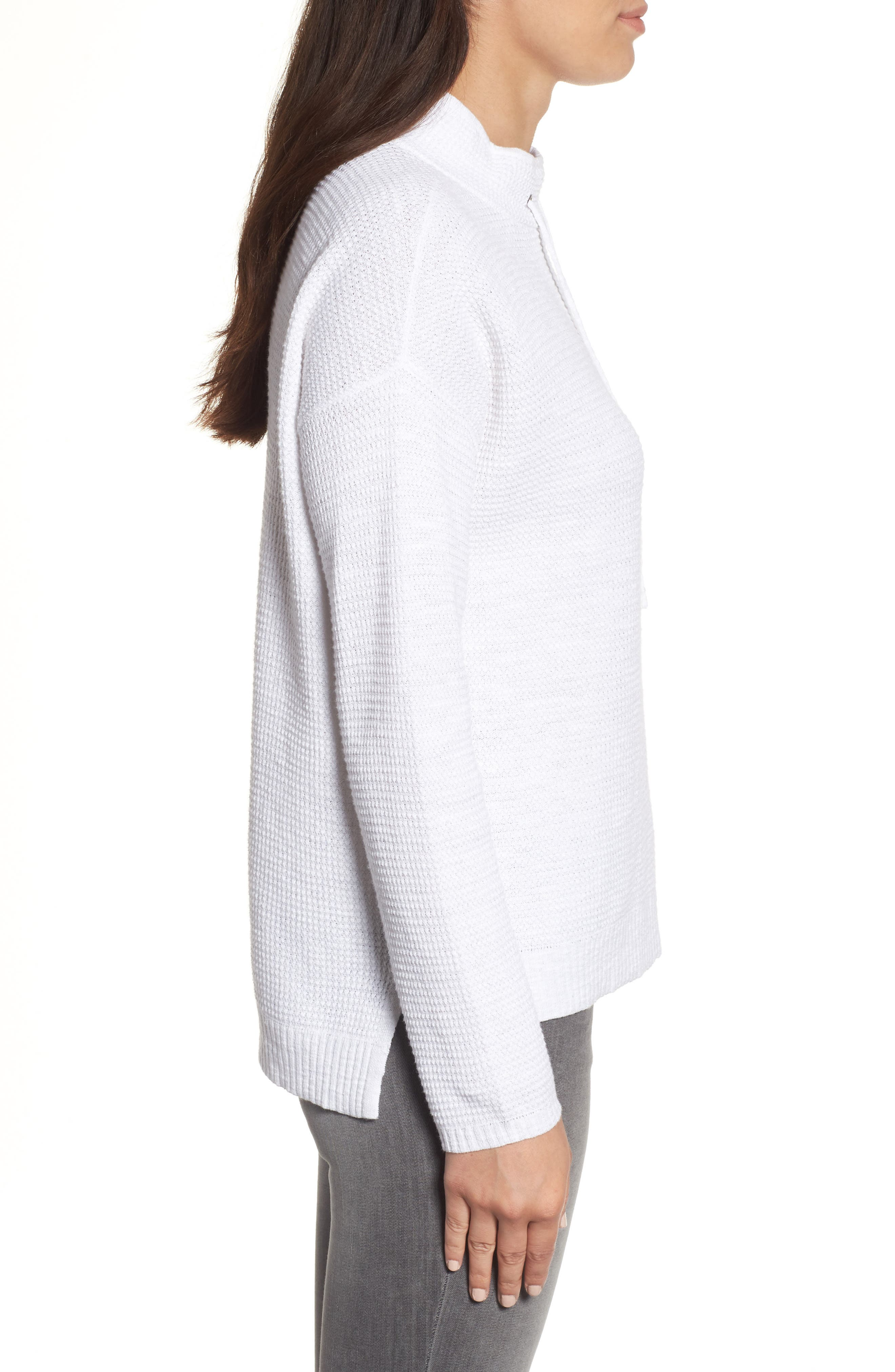 Alternate Image 3  - Eileen Fisher Drawstring Neck Organic Linen & Cotton Top (Regular & Petite)