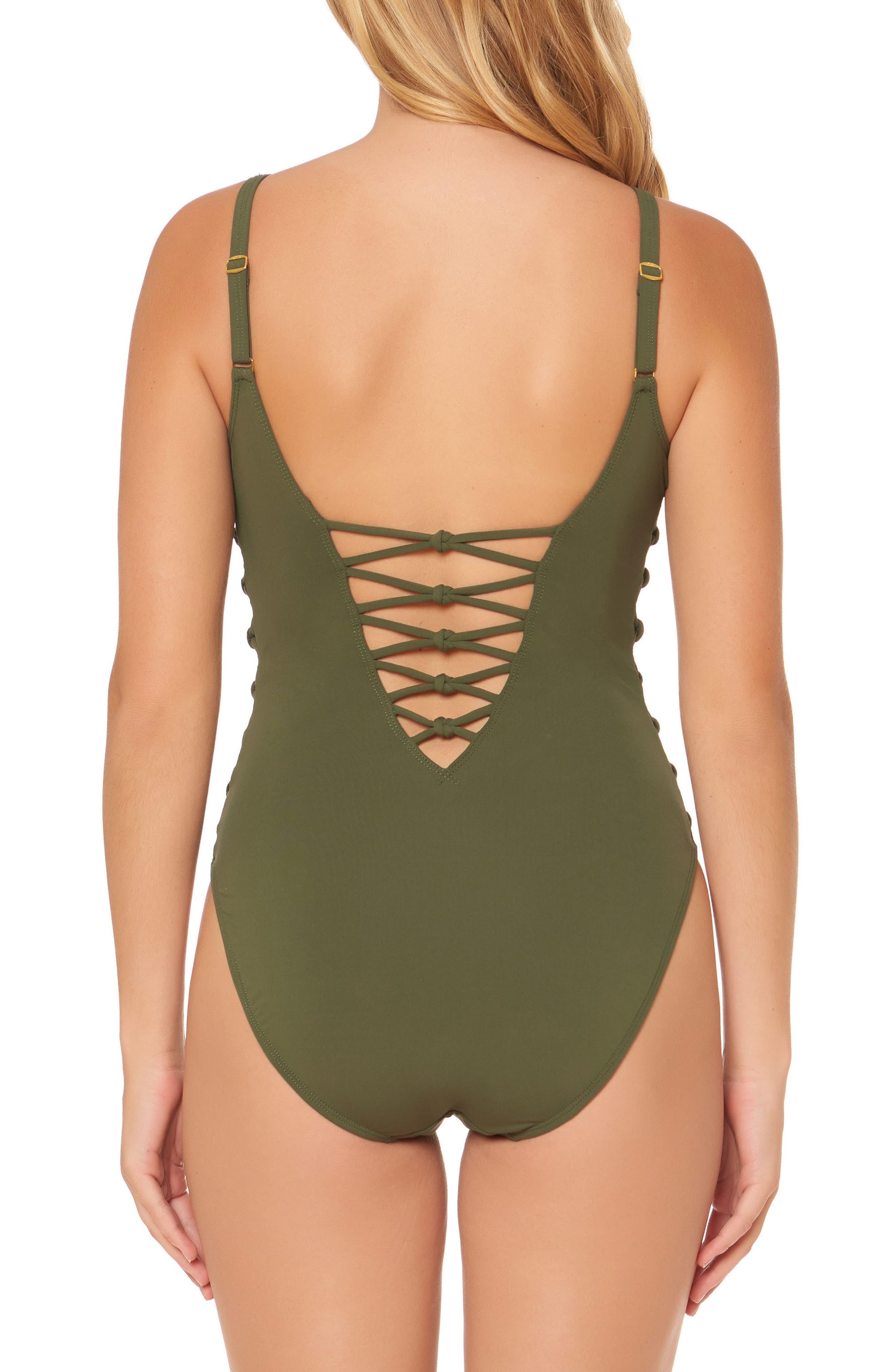 Alternate Image 2  - BLEU by Rod Beattie Lattice One-Piece Swimsuit