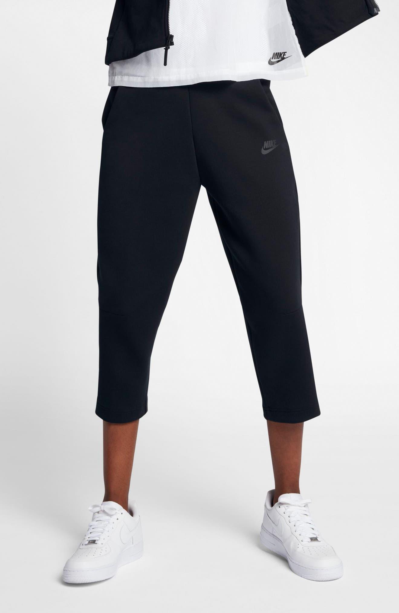 Sportswear Women's Tech Fleece Sneaker Pants,                             Alternate thumbnail 3, color,                             Black/ Black
