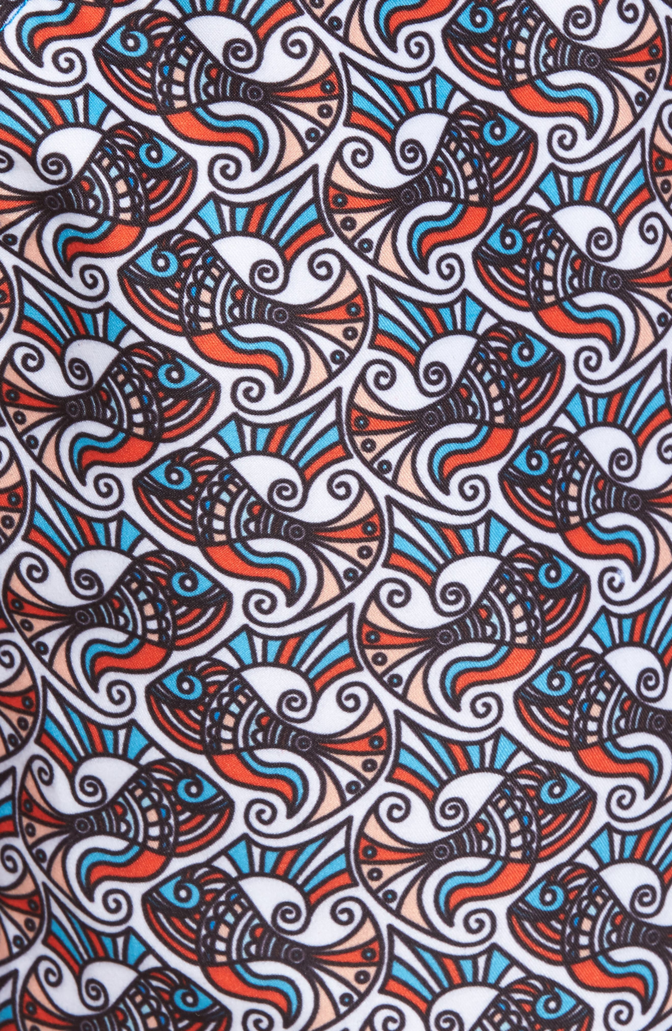 Alternate Image 5  - Mr. Swim Fish Swirls Print Swim Trunks
