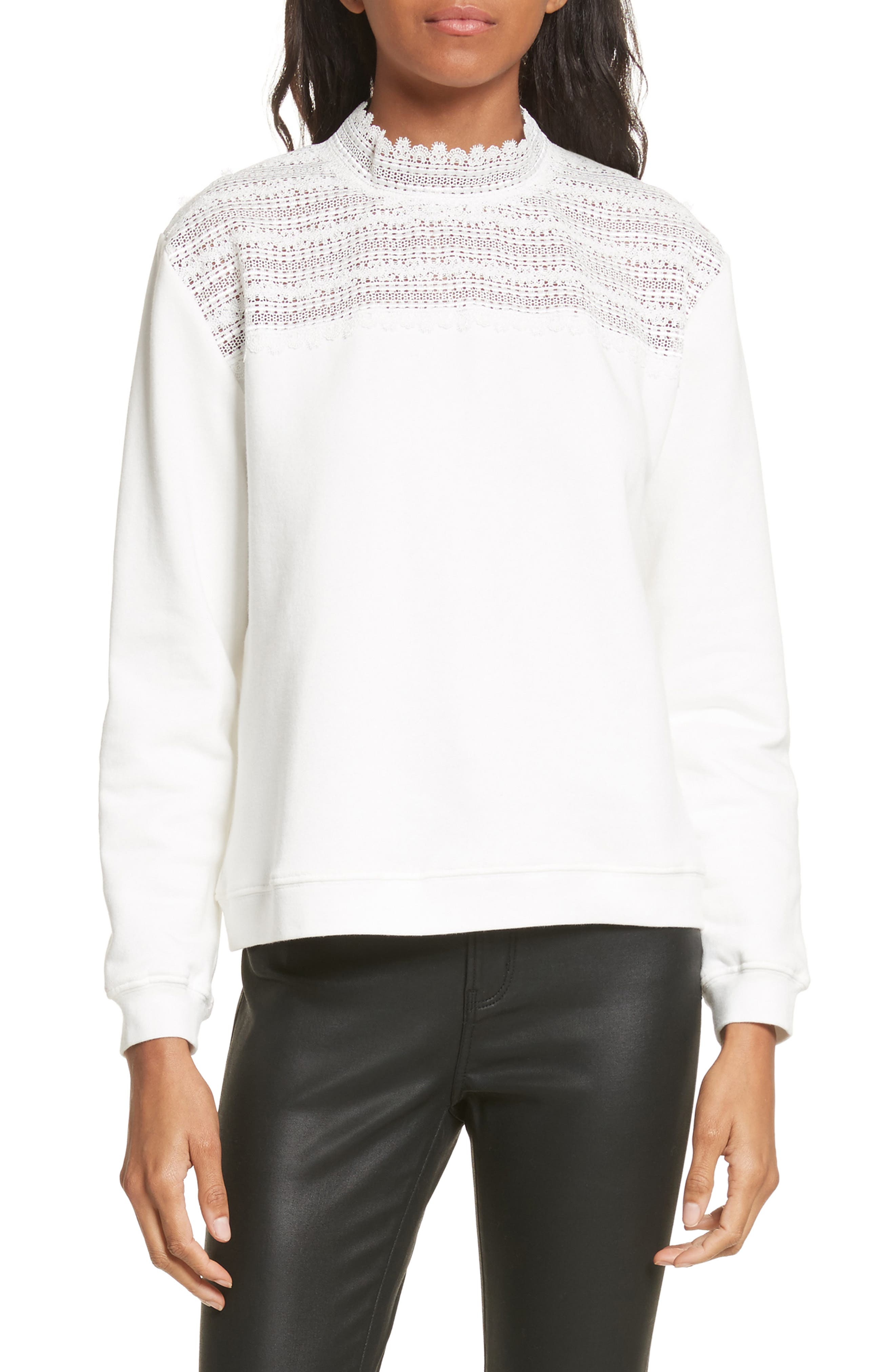 Alternate Image 1 Selected - The Kooples Lace Yoke Sweater