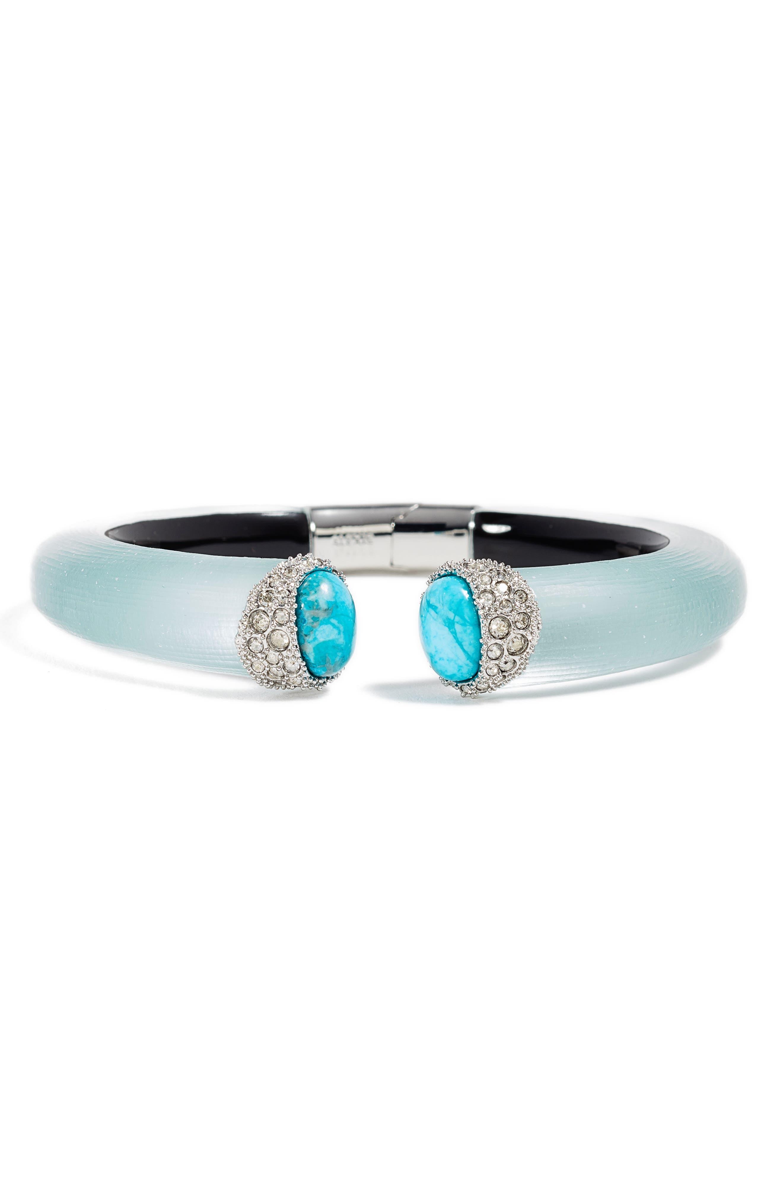 Alexis Bittar Encrusted Double Stone Lucite® Hinge Bracelet