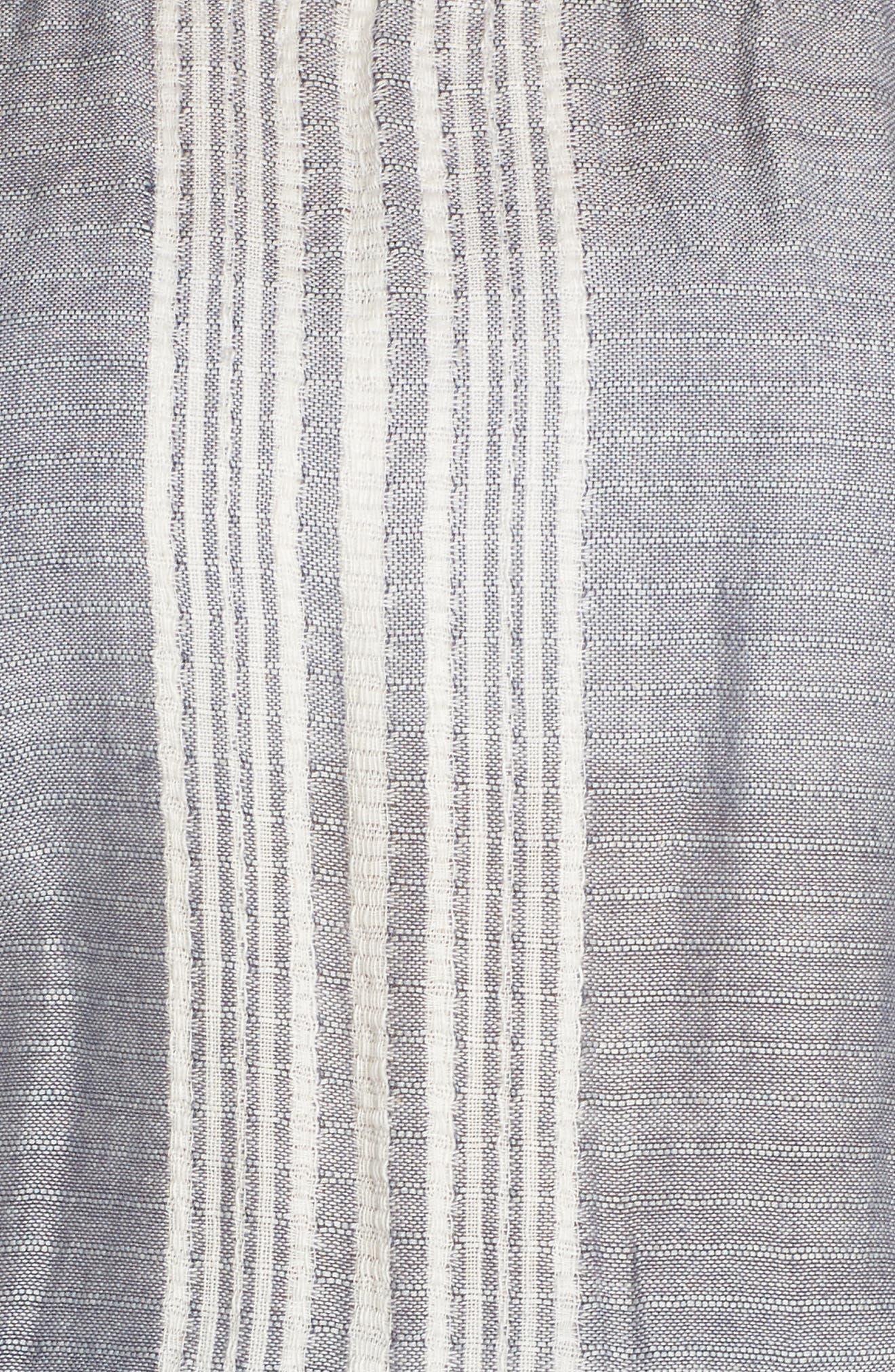 Strapless Cover-Up Jumpsuit,                             Alternate thumbnail 5, color,                             Blue Stripe