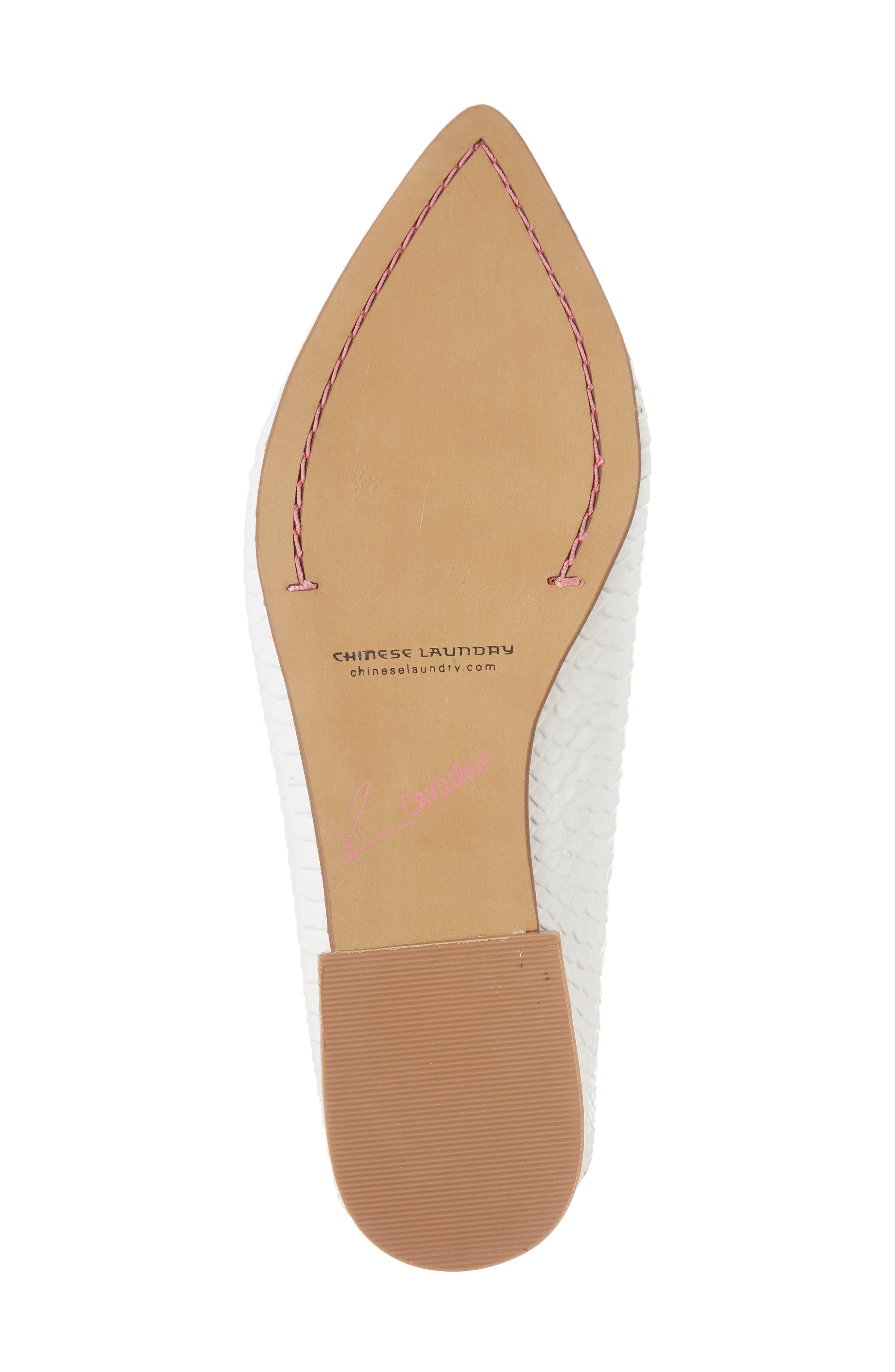 'Capri' Mule,                             Alternate thumbnail 6, color,                             White Leather