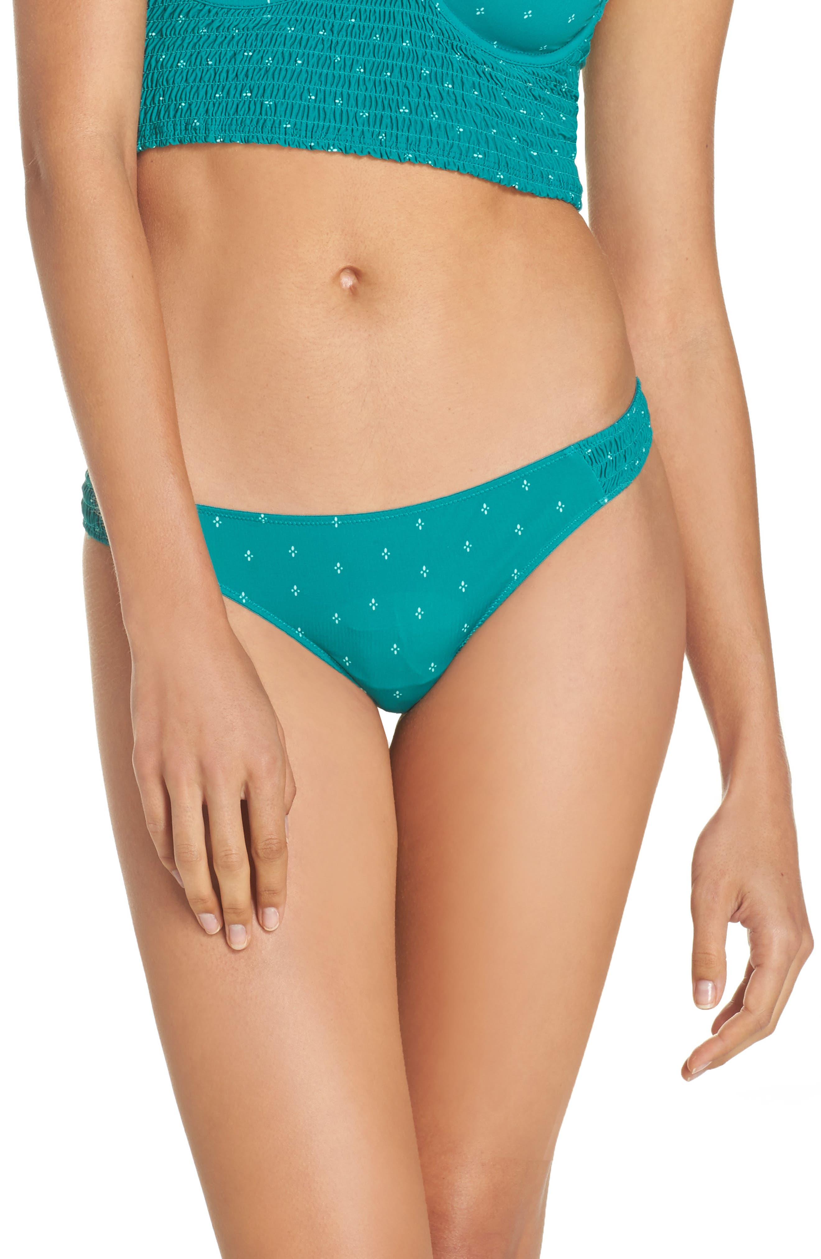 Intimately FP Come a Little Closure Thong,                             Main thumbnail 1, color,                             Green