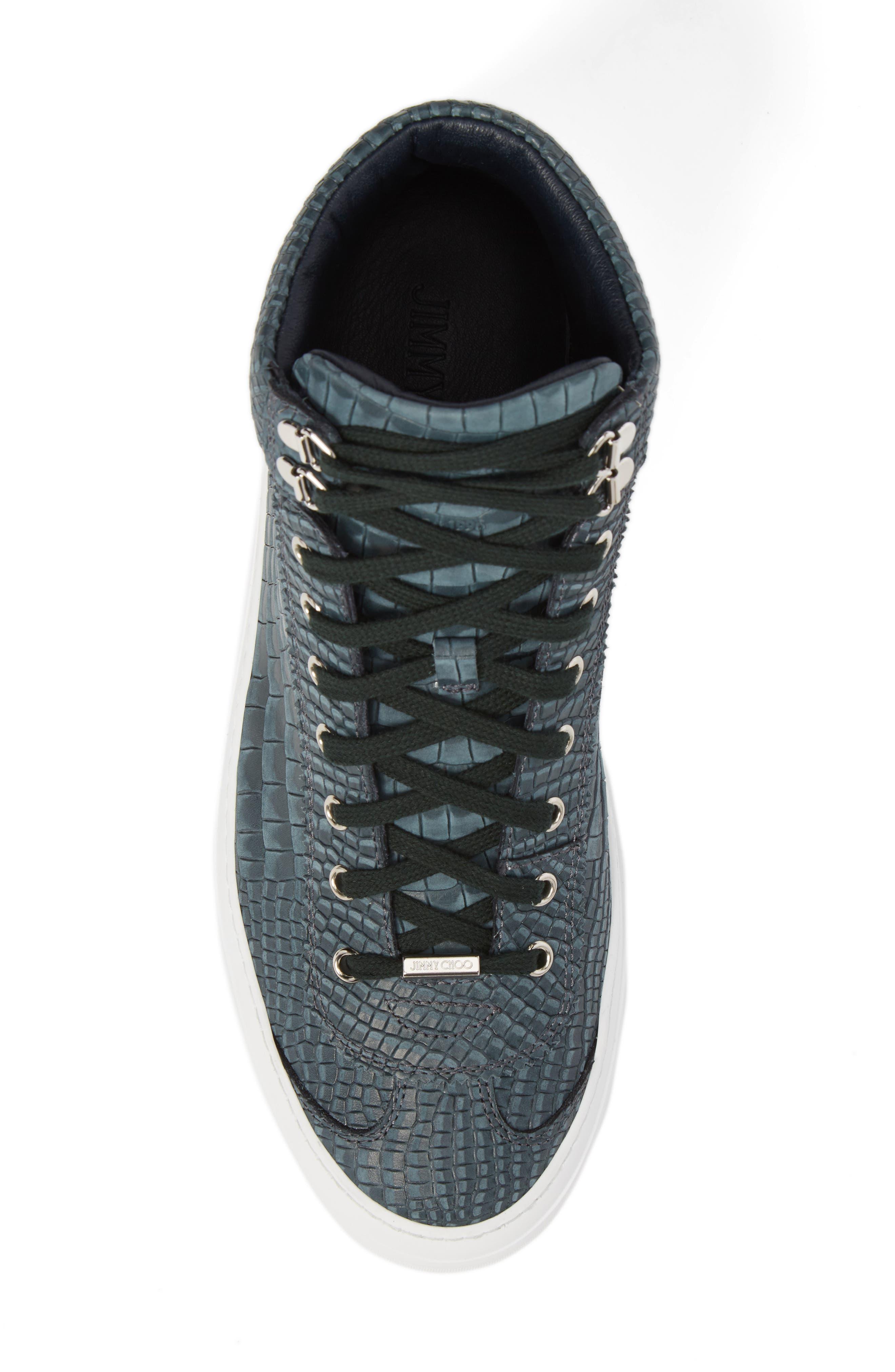 Argyle Sneaker,                             Alternate thumbnail 5, color,                             Dark Pavone Nubuck