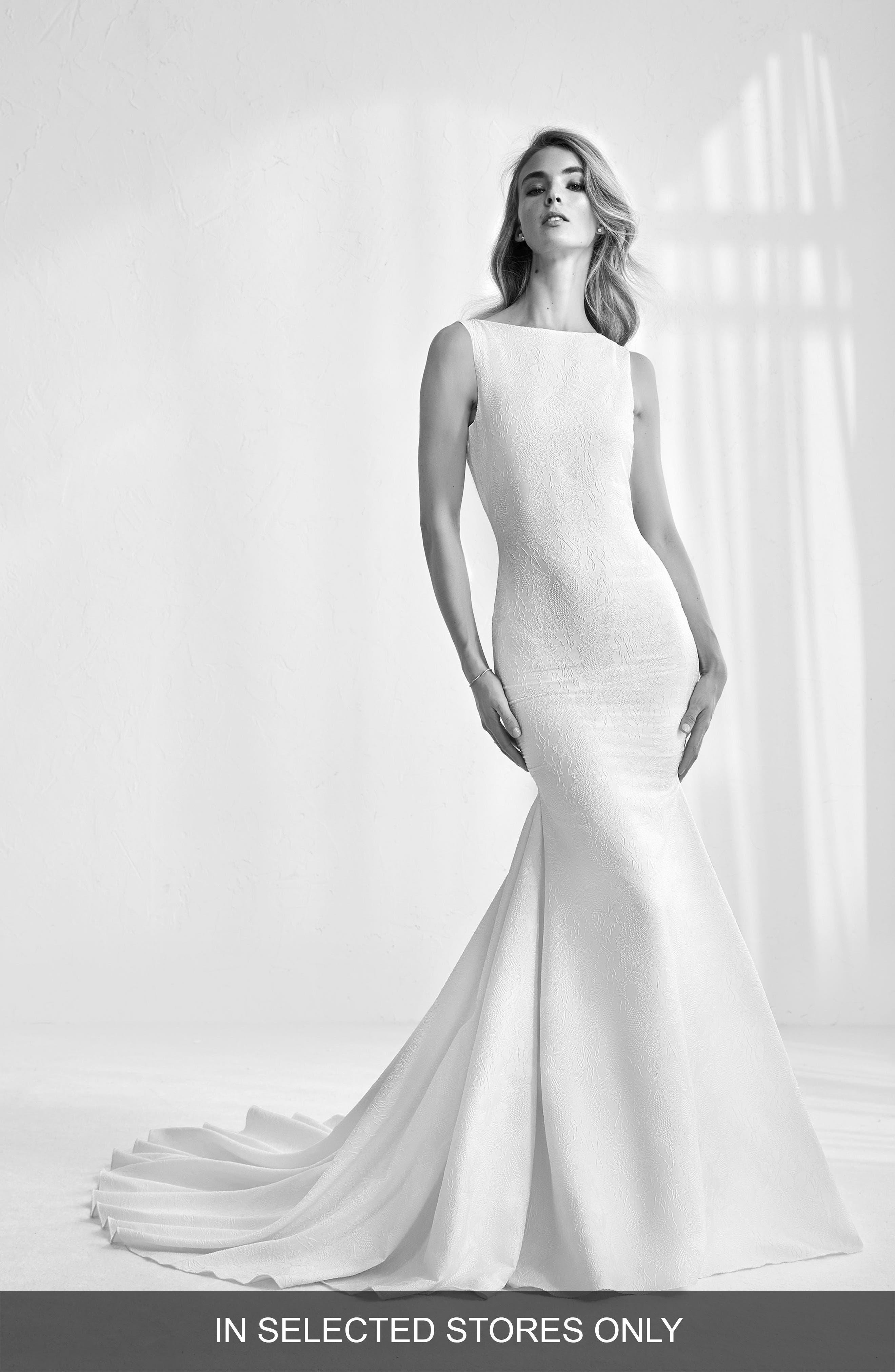 Atelier Pronovias Raim Jacquard Mermaid Gown