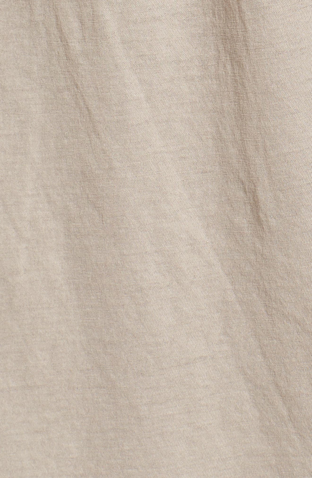 Alternate Image 5  - James Perse Draped Midi Dress