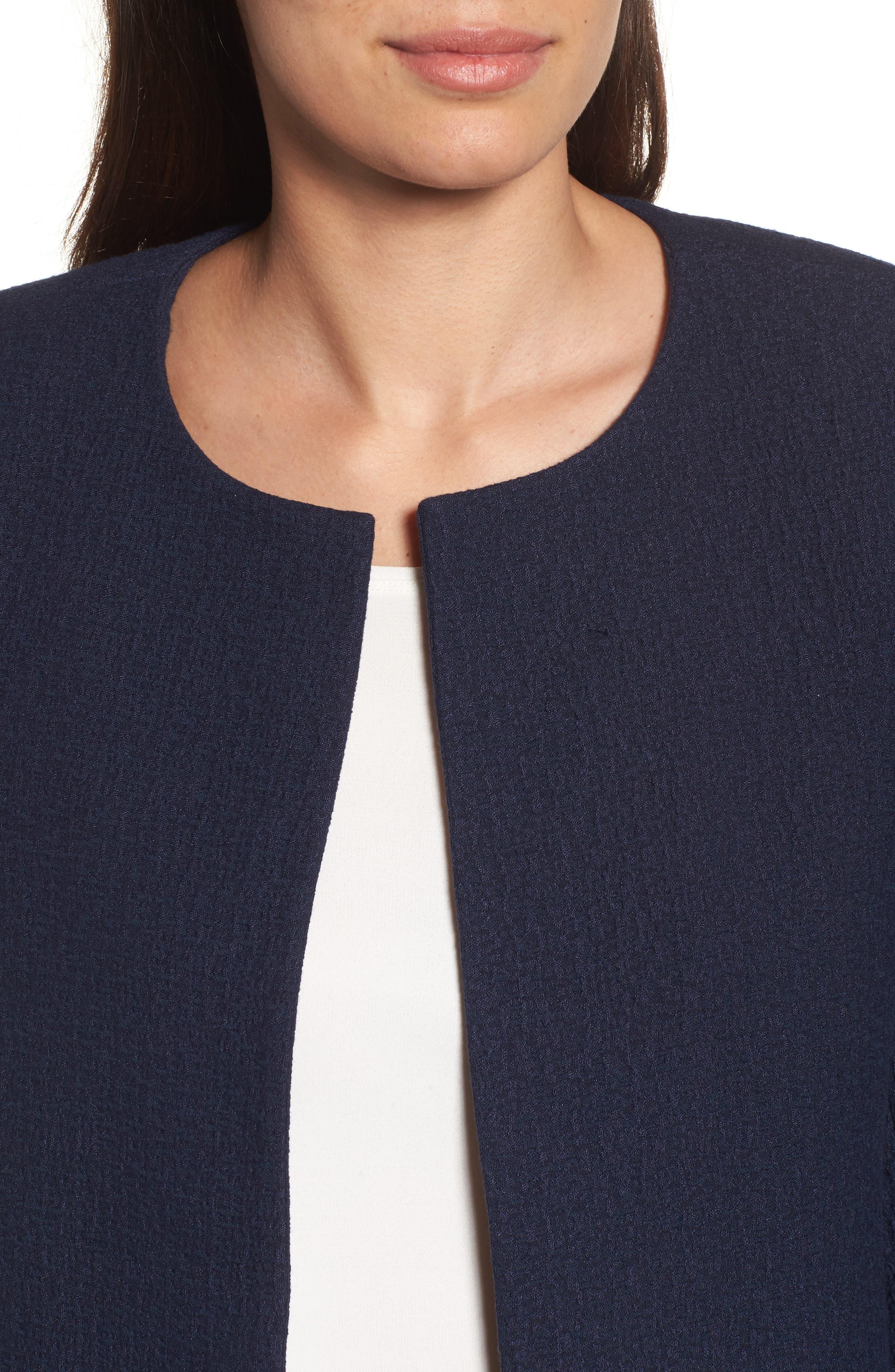 Alternate Image 4  - Eileen Fisher Open Front Round Neck Jacket