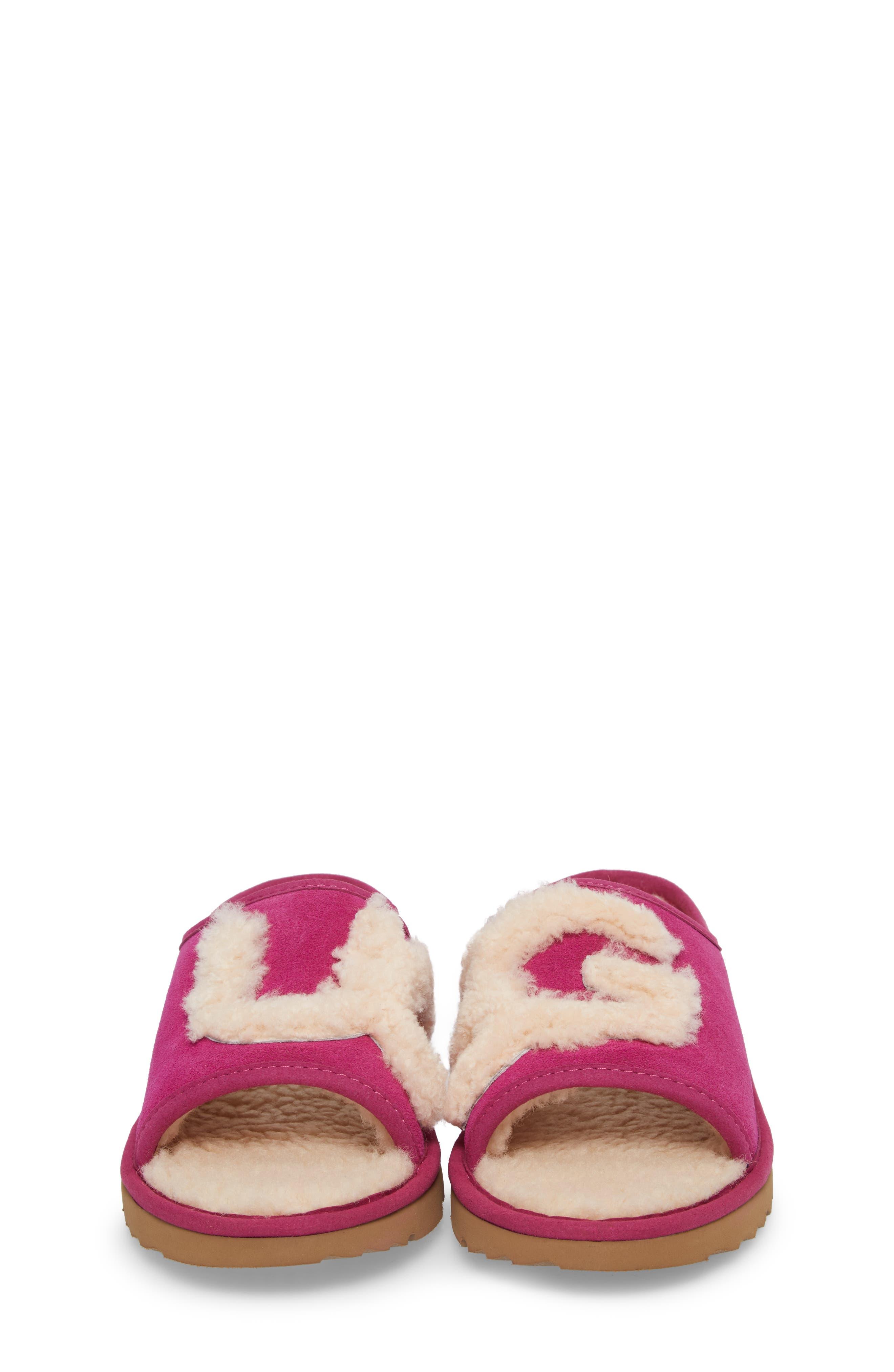 Logo Slide Sandal,                             Alternate thumbnail 4, color,                             Magenta Rose