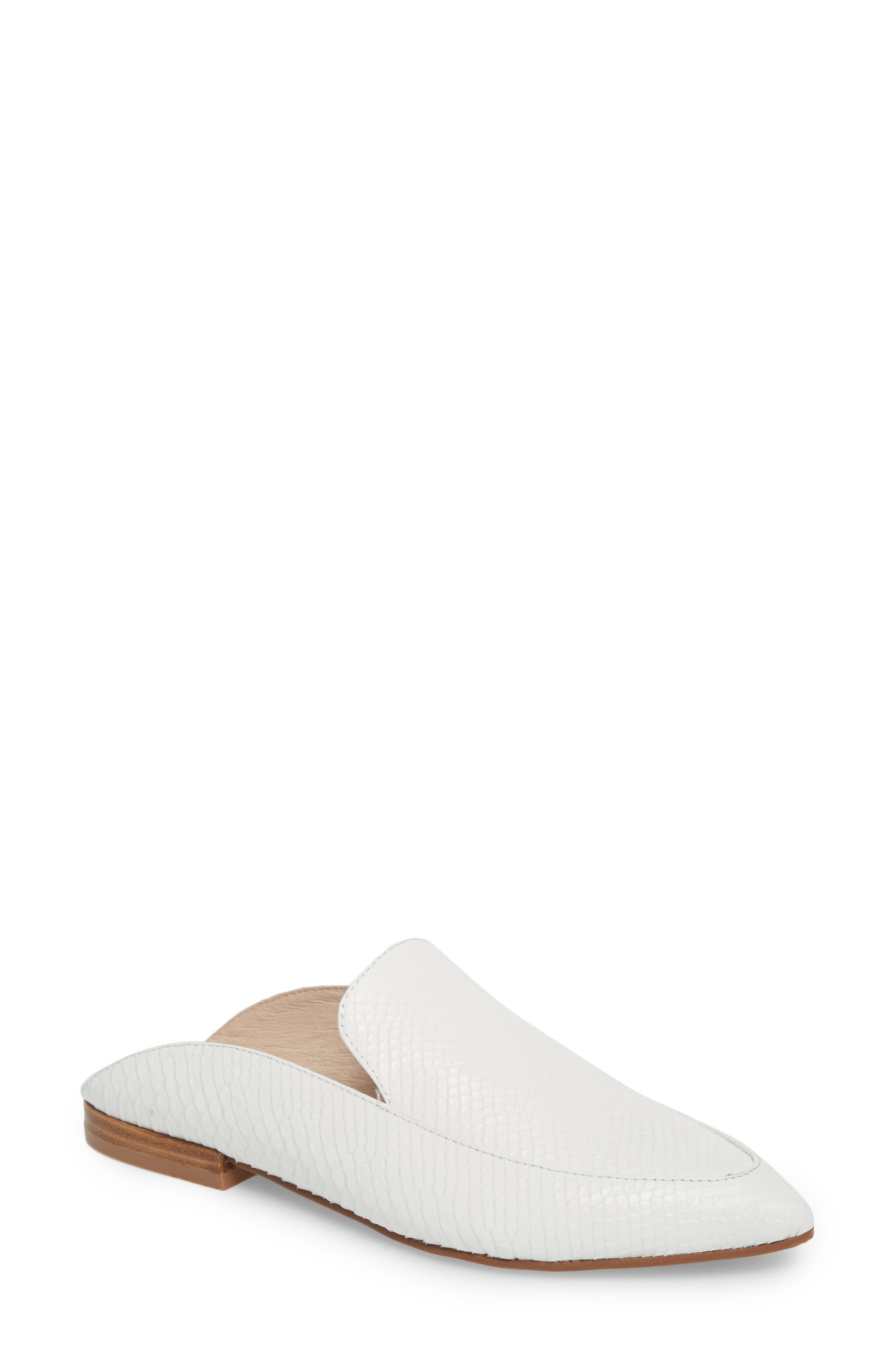 'Capri' Mule,                             Main thumbnail 1, color,                             White Leather