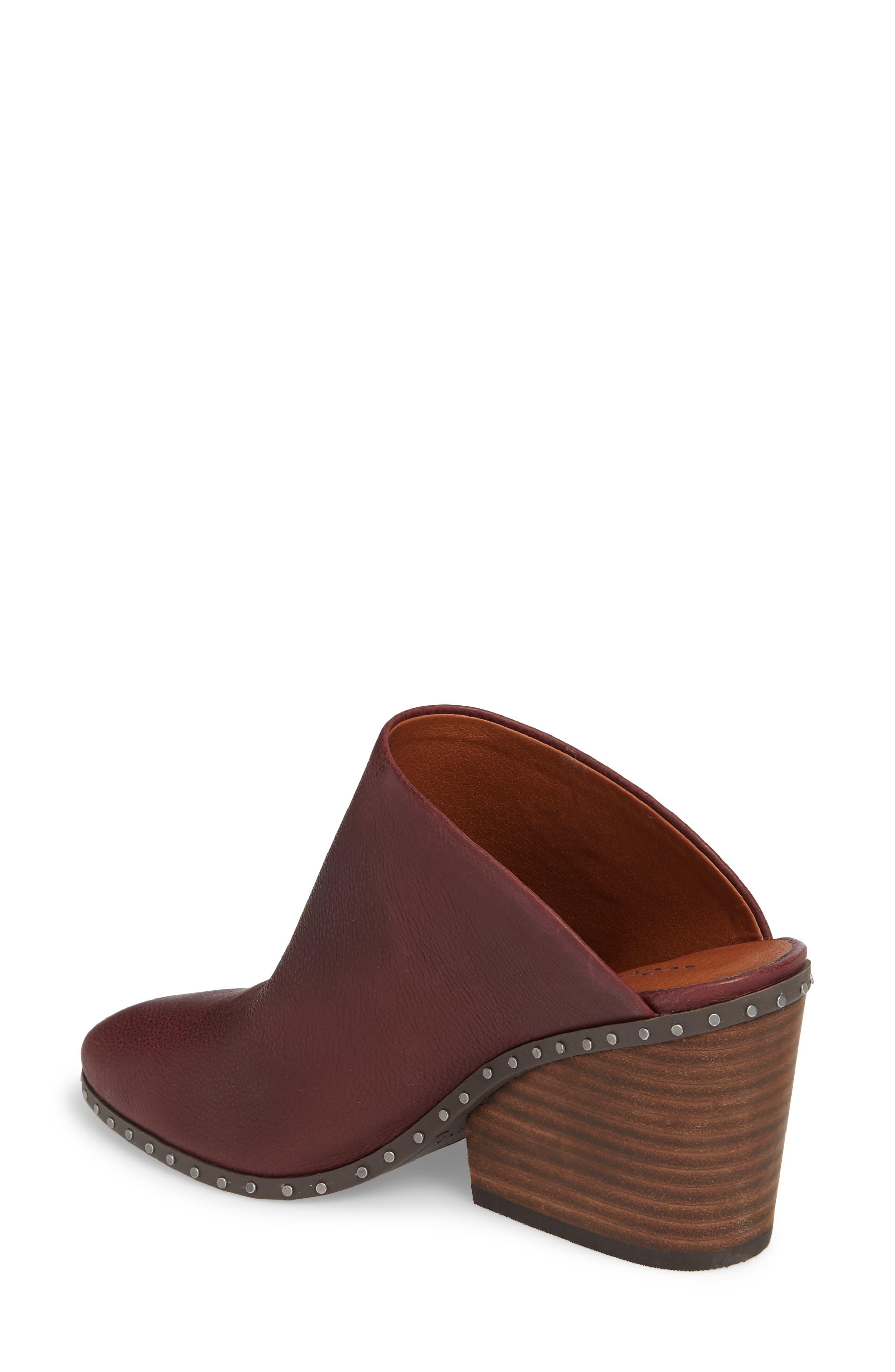 Larsson2 Studded Mule,                             Alternate thumbnail 2, color,                             Tawny Port Leather