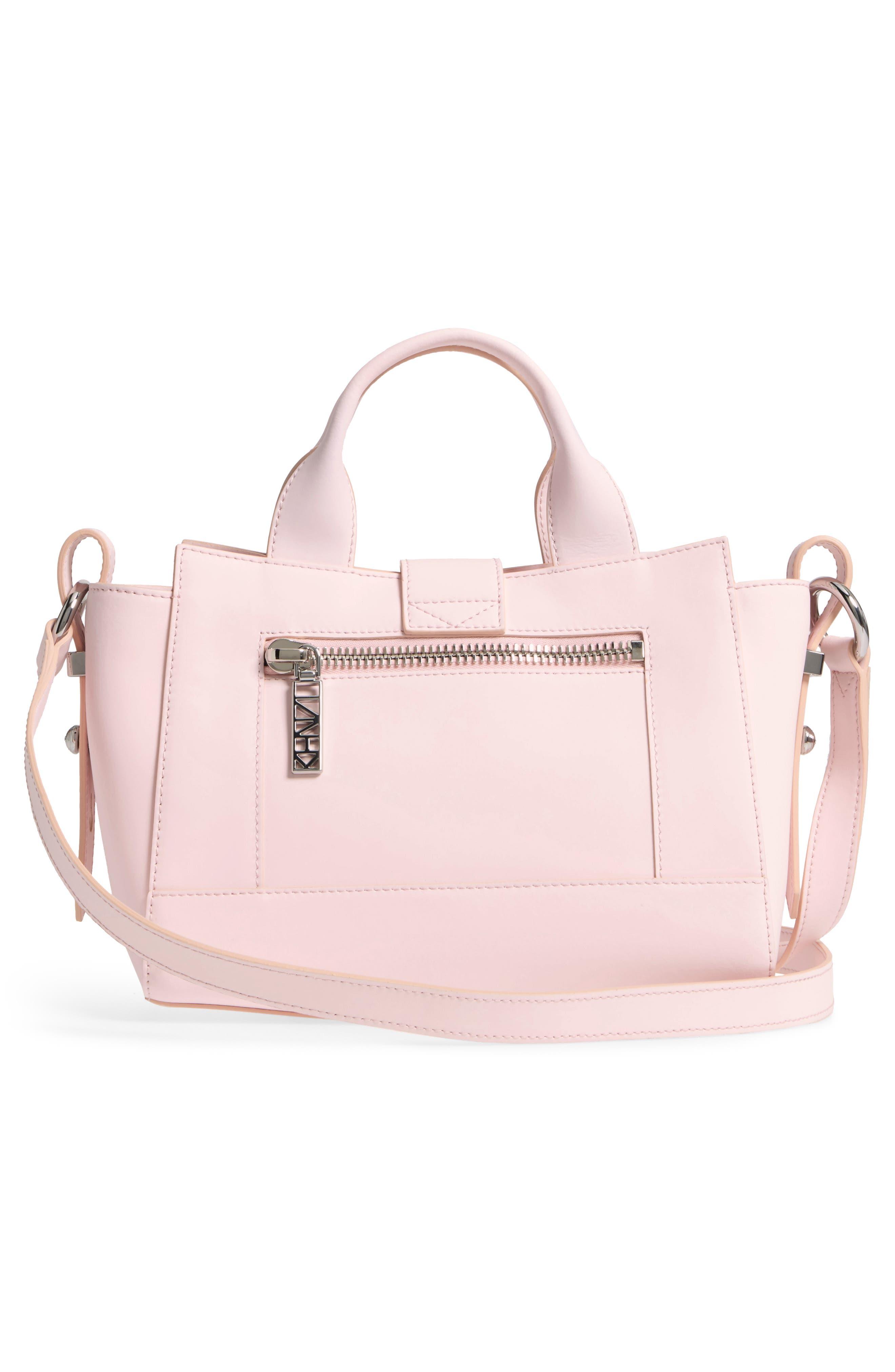 'Mini Kalifornia' Leather Satchel,                             Alternate thumbnail 3, color,                             Faded Pink