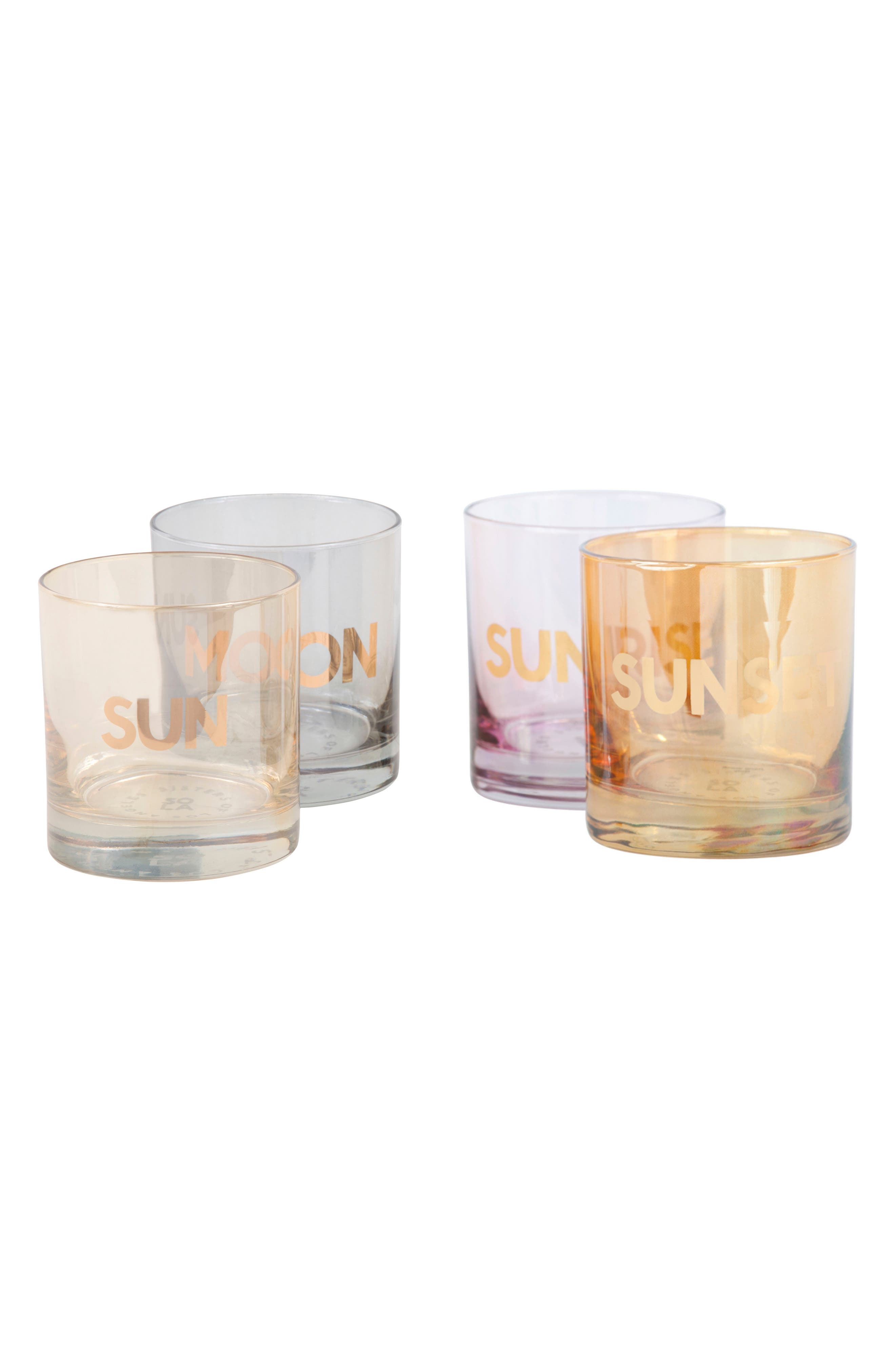 Alternate Image 1 Selected - Sisters of Los Angeles Sun/Moon & Sunrise/Sunset Set of 4 Double Old Fashioned Glasses