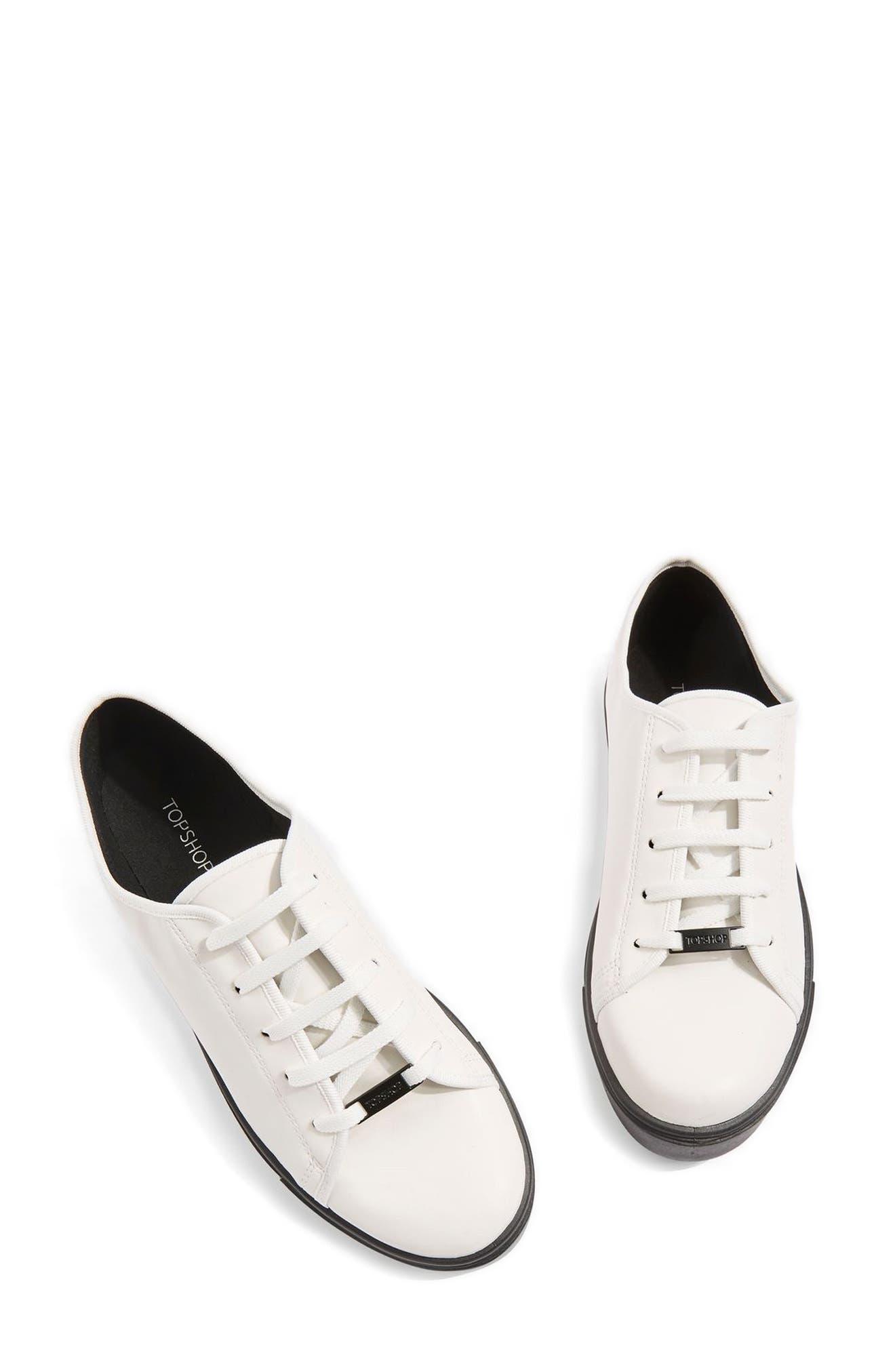 Topshop Crush Waterproof Contrast Sole Sneaker (Women)