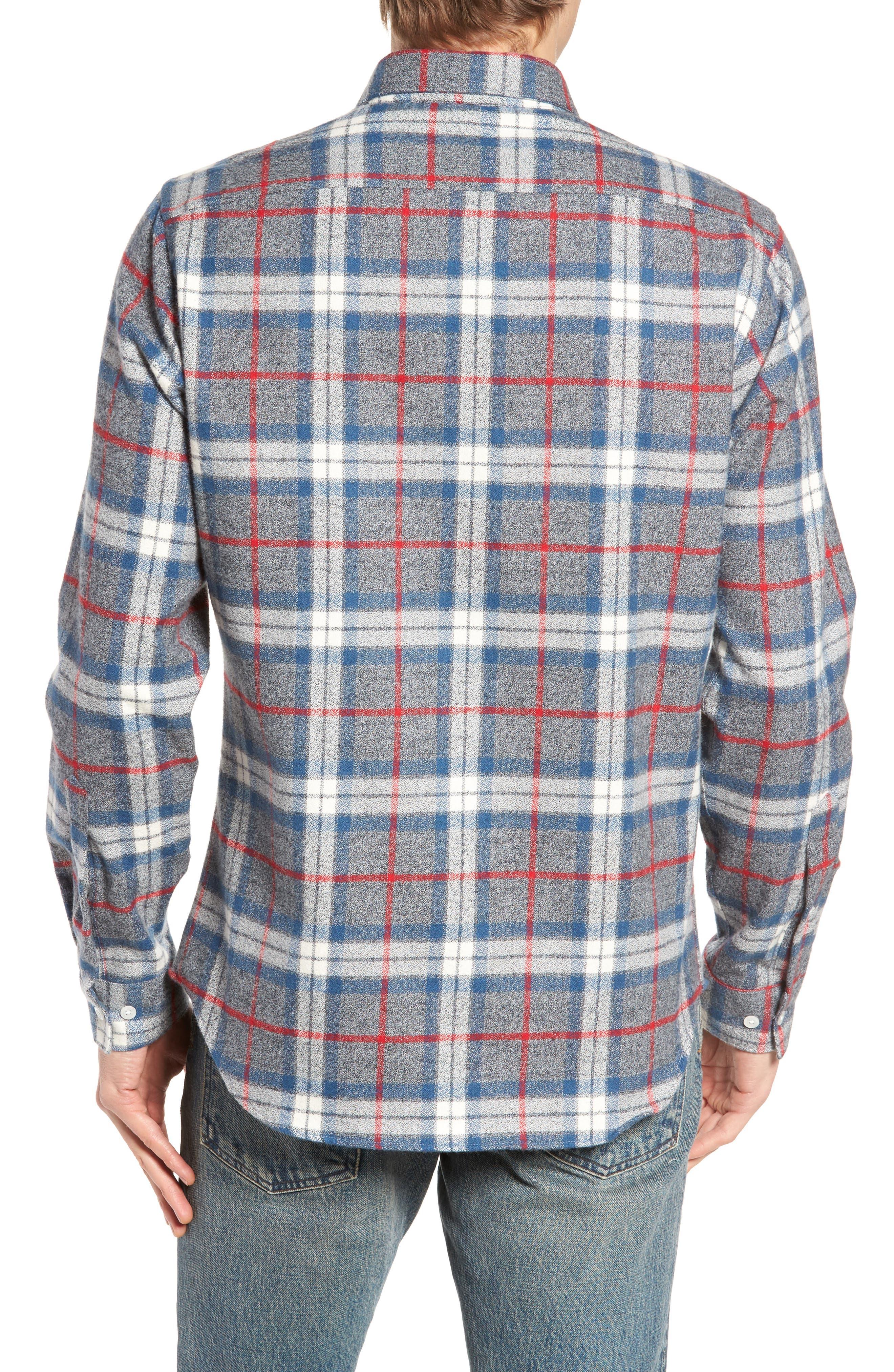 Brattleb Slim Fit Plaid Sport Shirt,                             Alternate thumbnail 2, color,                             Smoke Grey