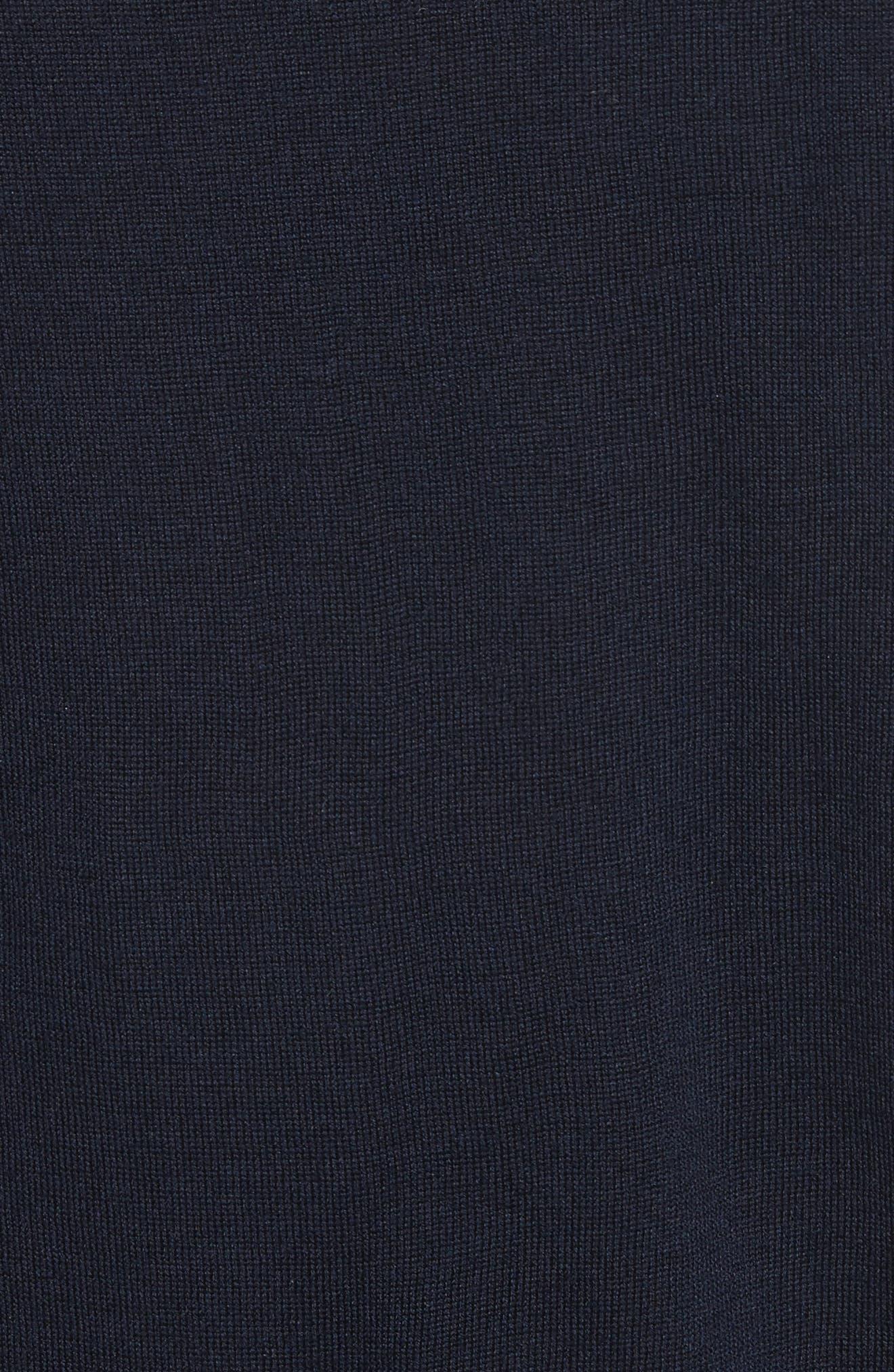 Sigfred Merino Wool & Silk Crewneck Sweater,                             Alternate thumbnail 5, color,                             Dark Navy